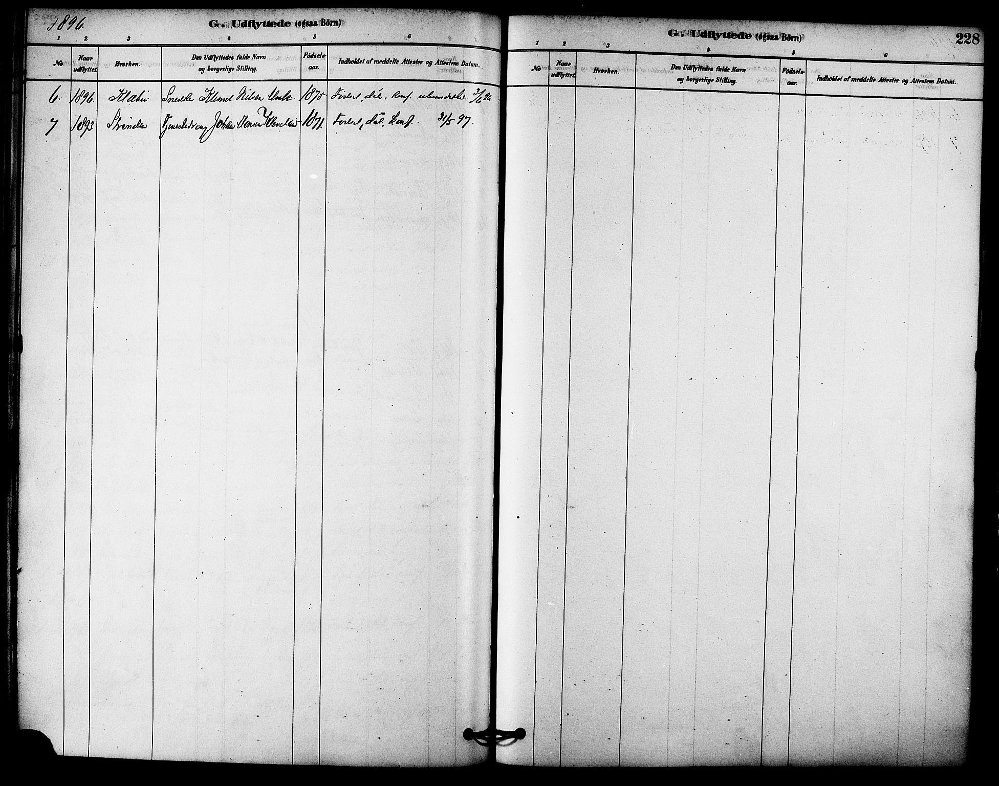 SAT, Ministerialprotokoller, klokkerbøker og fødselsregistre - Sør-Trøndelag, 612/L0378: Ministerialbok nr. 612A10, 1878-1897, s. 228