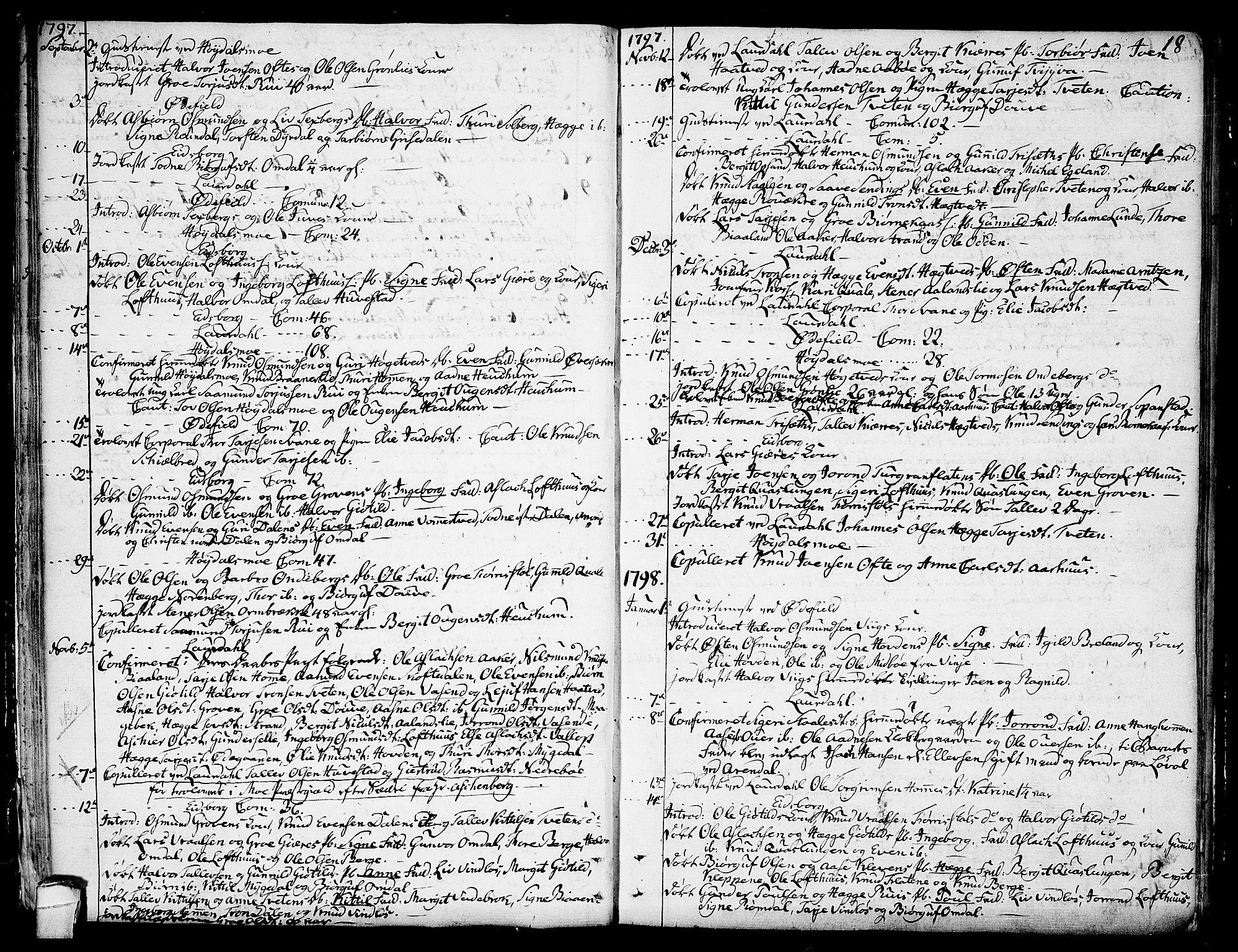 SAKO, Lårdal kirkebøker, F/Fa/L0004: Ministerialbok nr. I 4, 1790-1814, s. 18