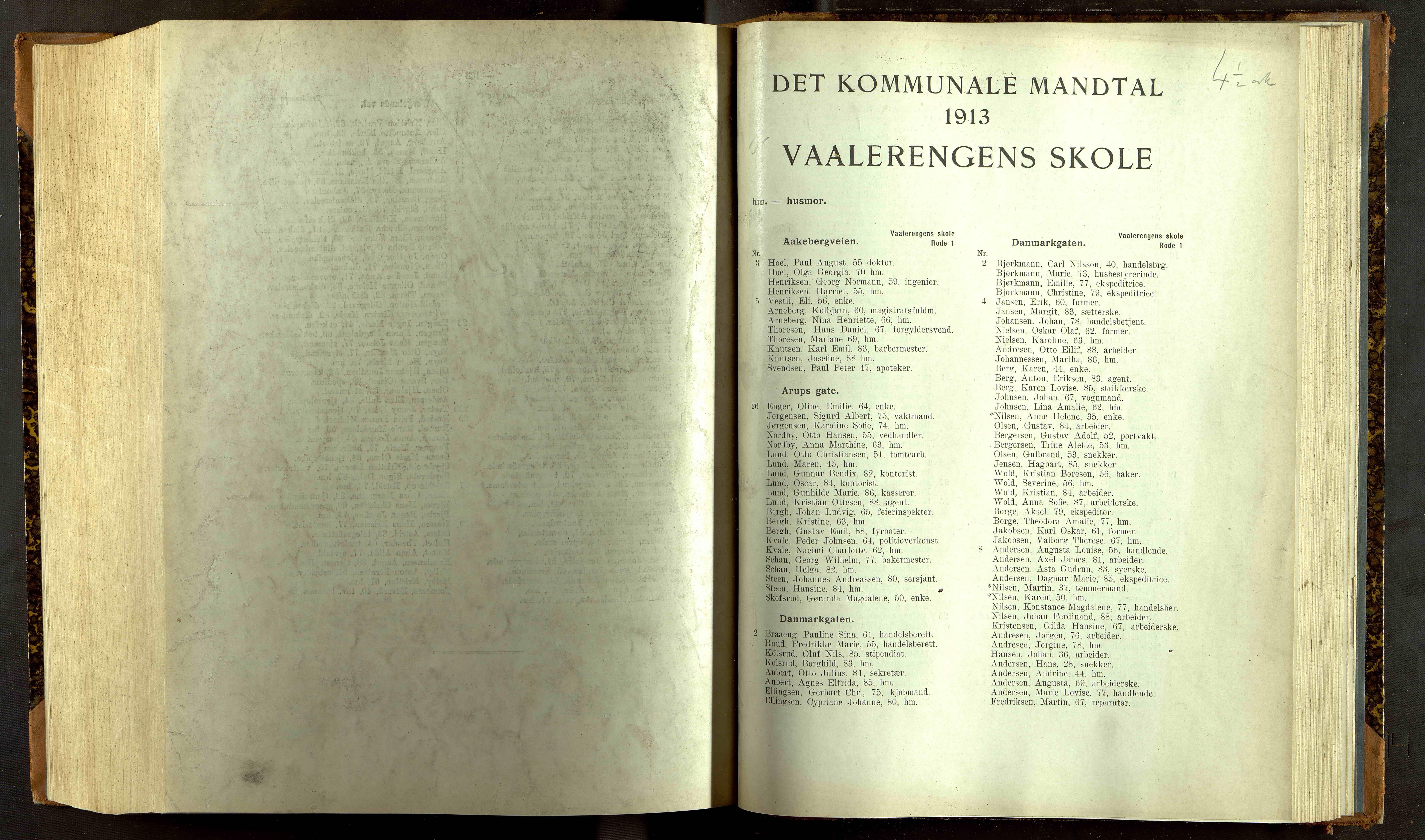 OBA, Folkeregisteret ( Valgstyret ), 1913, s. 11001
