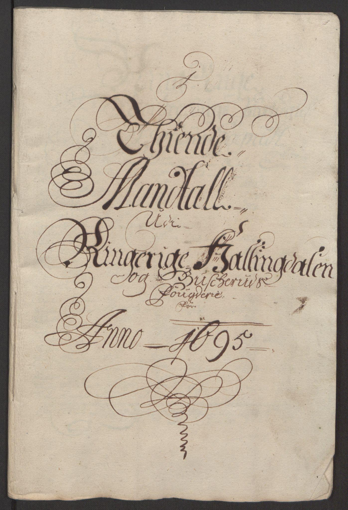 RA, Rentekammeret inntil 1814, Reviderte regnskaper, Fogderegnskap, R22/L1452: Fogderegnskap Ringerike, Hallingdal og Buskerud, 1695, s. 250