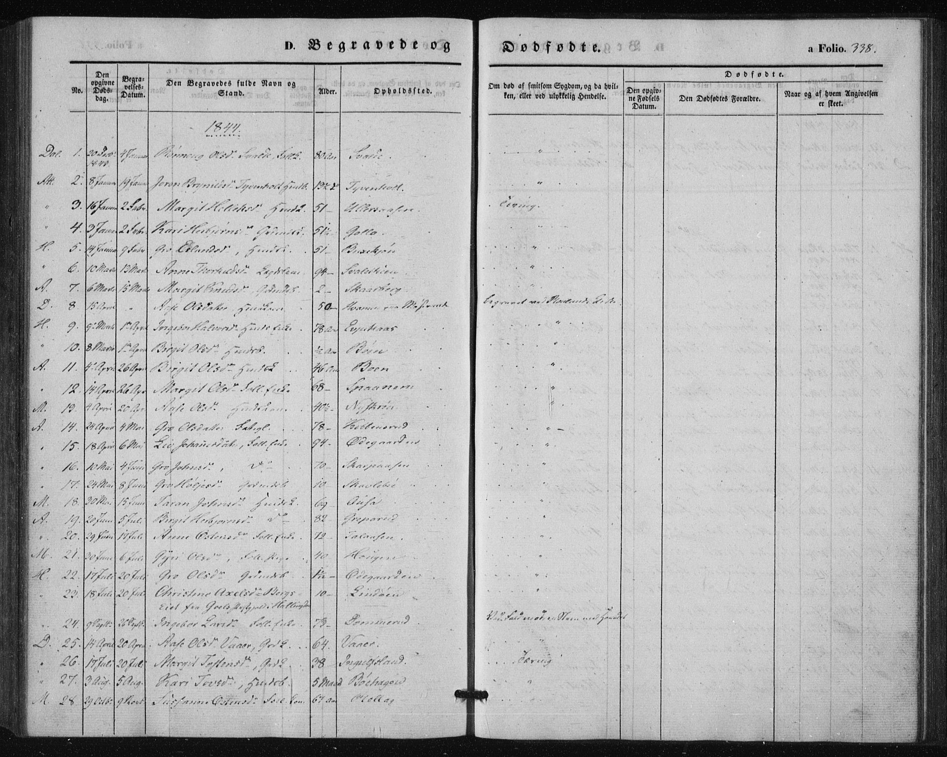 SAKO, Tinn kirkebøker, F/Fa/L0005: Ministerialbok nr. I 5, 1844-1856, s. 338