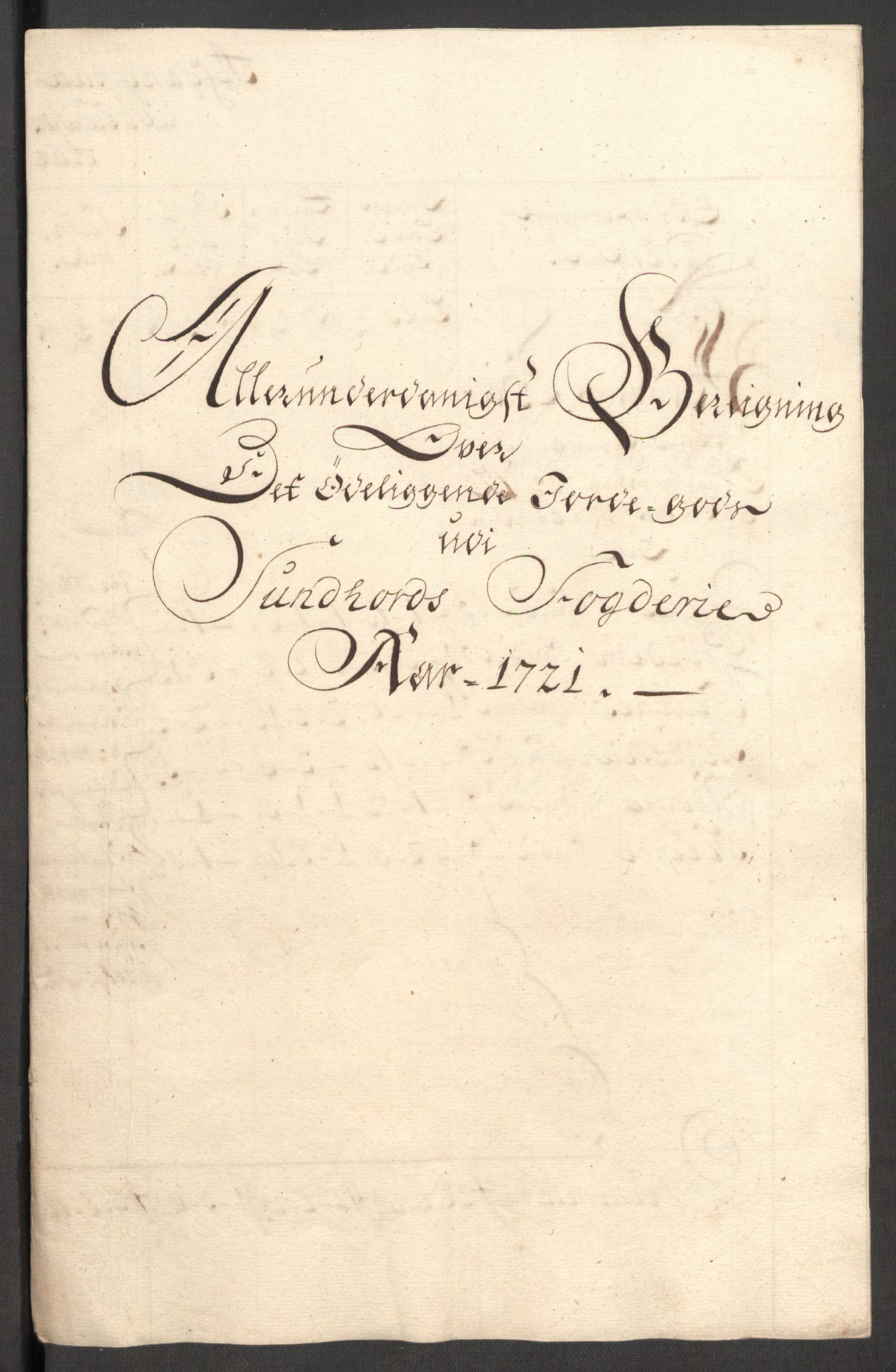 RA, Rentekammeret inntil 1814, Reviderte regnskaper, Fogderegnskap, R48/L3000: Fogderegnskap Sunnhordland og Hardanger, 1721, s. 302