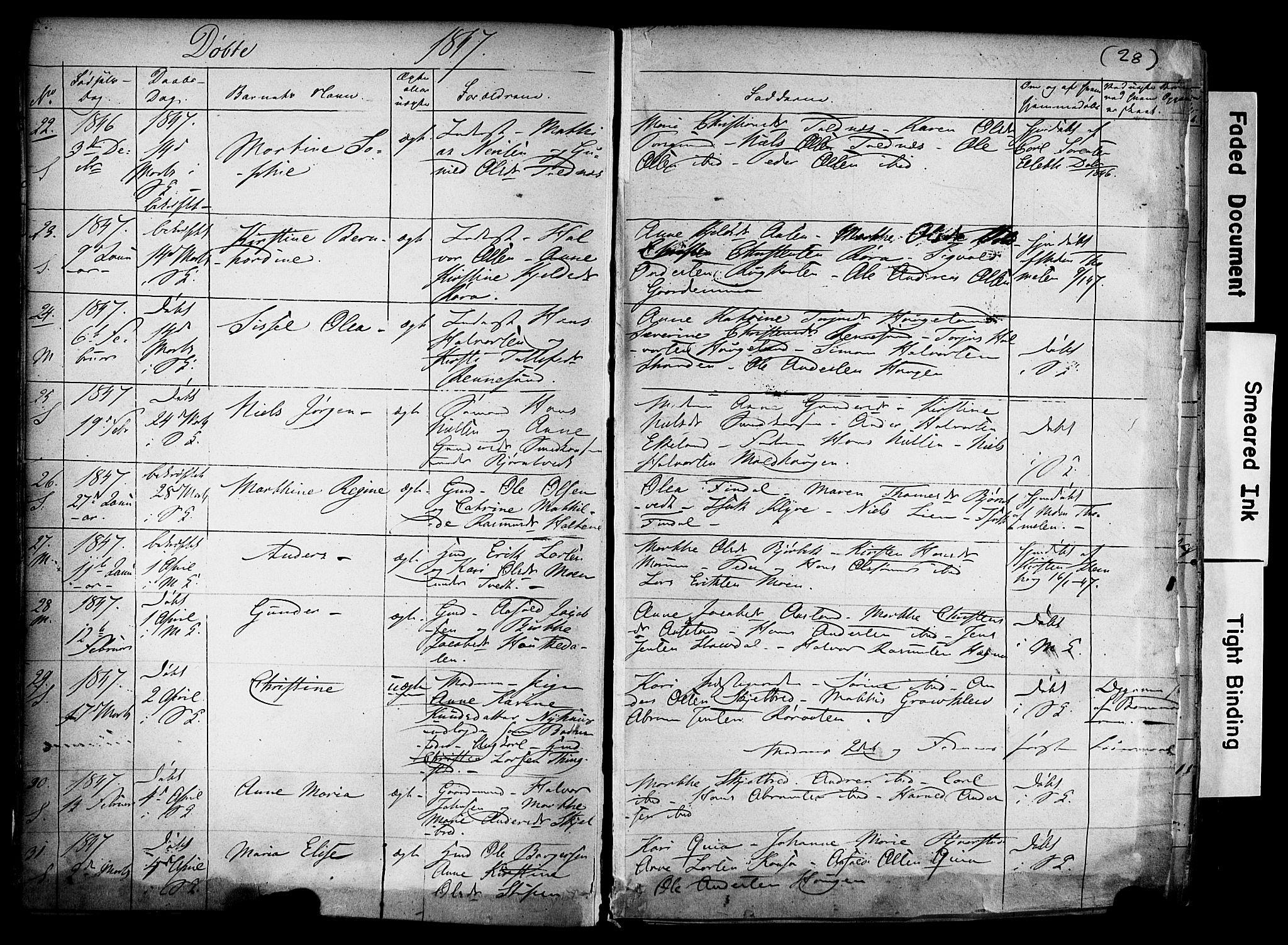 SAKO, Solum kirkebøker, F/Fa/L0006: Ministerialbok nr. I 6, 1844-1855, s. 28