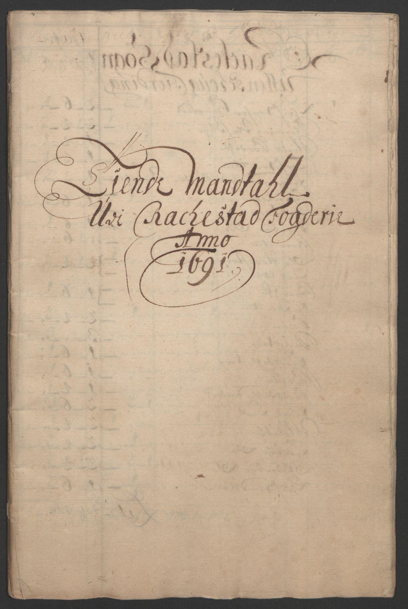 RA, Rentekammeret inntil 1814, Reviderte regnskaper, Fogderegnskap, R05/L0278: Fogderegnskap Rakkestad, 1691-1693, s. 22