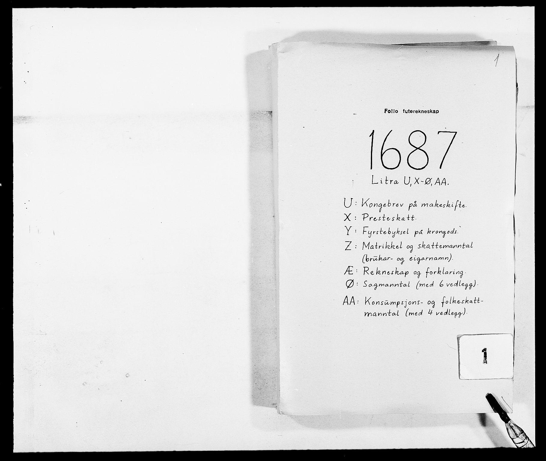 RA, Rentekammeret inntil 1814, Reviderte regnskaper, Fogderegnskap, R09/L0434: Fogderegnskap Follo, 1687-1688, s. 1