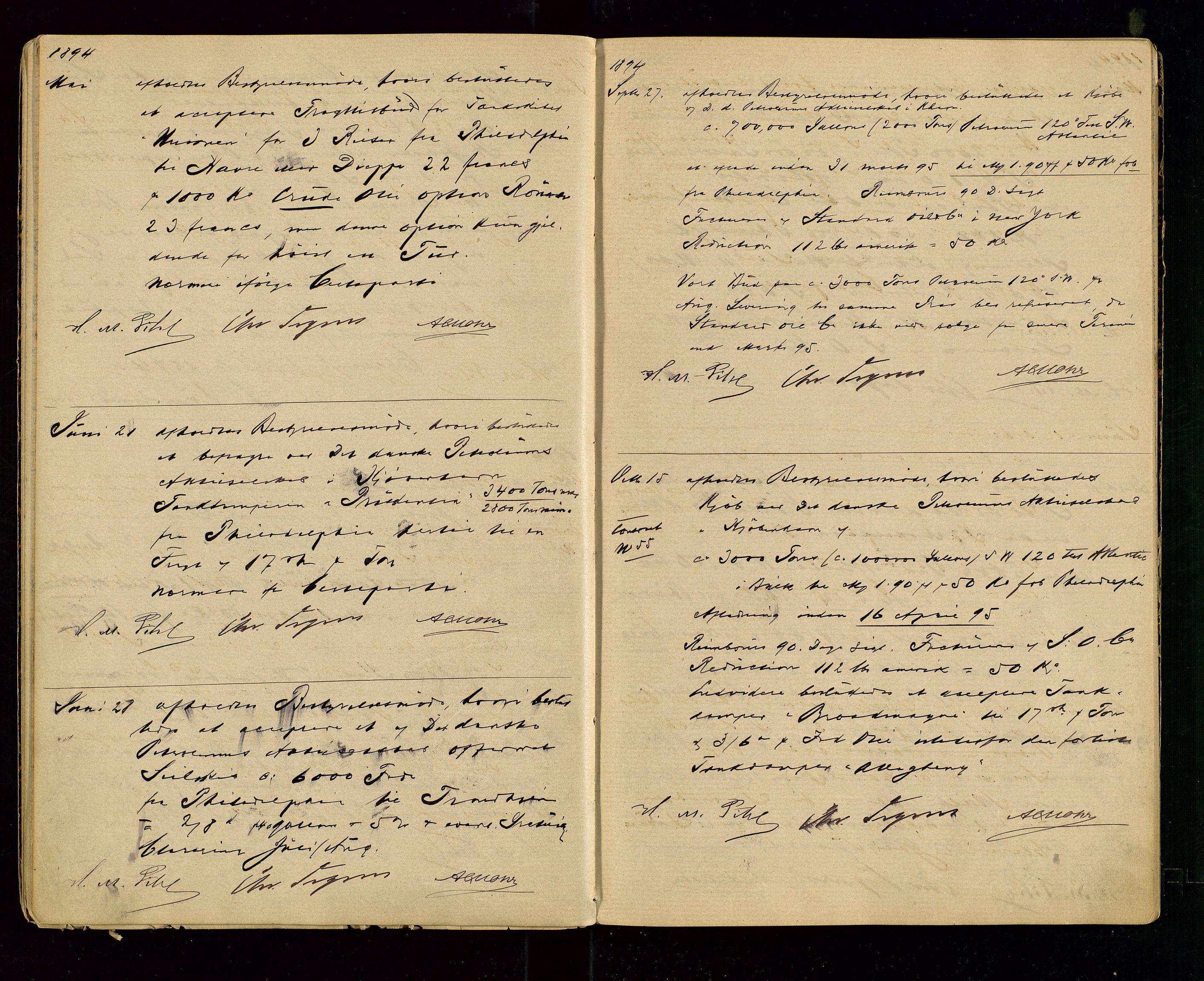 SAST, PA 1533 - A/S Vestlandske Petroleumscompani, A/Aa/L0001: Generalforsamlinger og styreprotokoller, 1890-1907, s. 19
