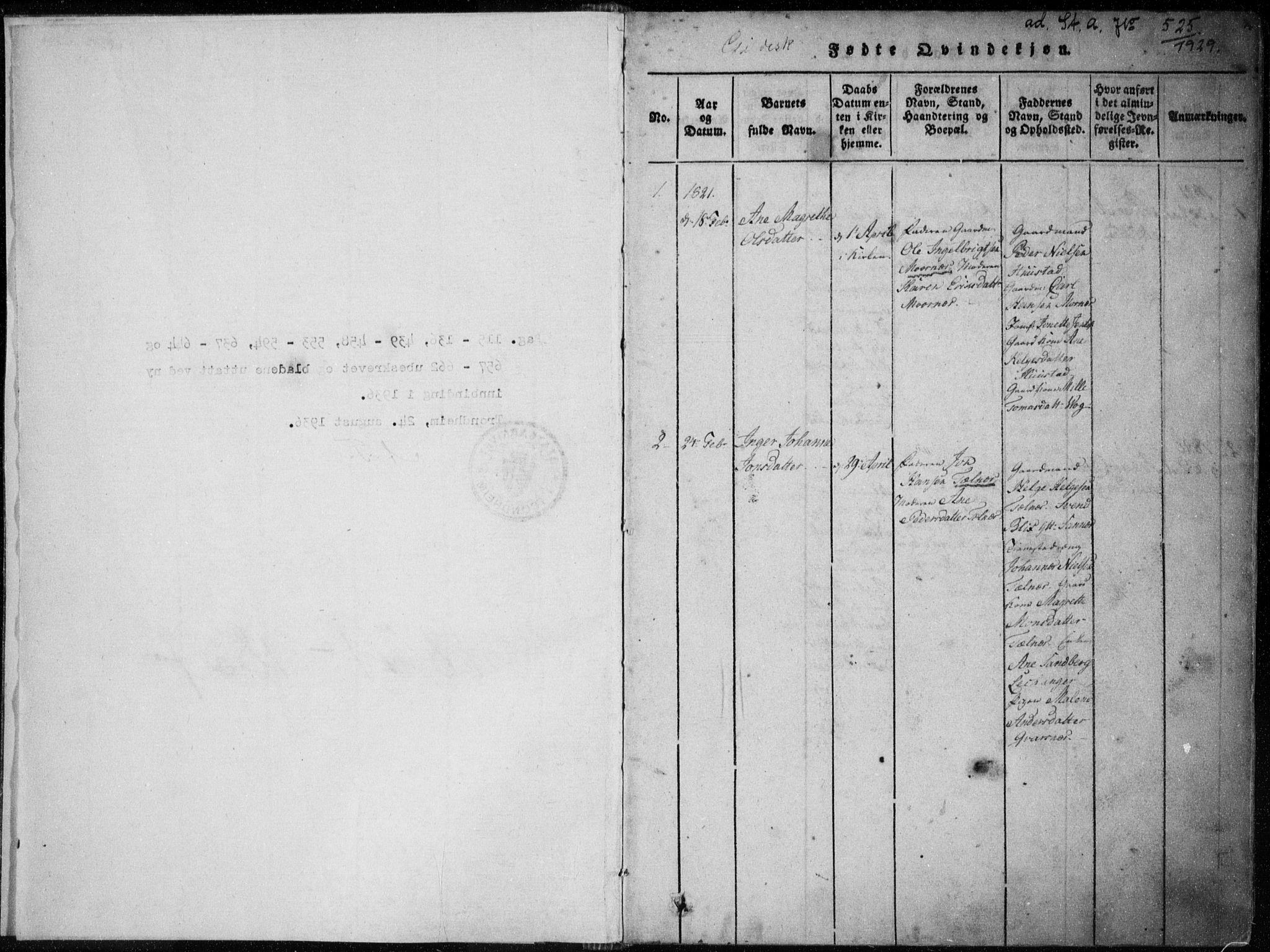 SAT, Ministerialprotokoller, klokkerbøker og fødselsregistre - Nordland, 805/L0096: Ministerialbok nr. 805A03, 1820-1837, s. 0-1