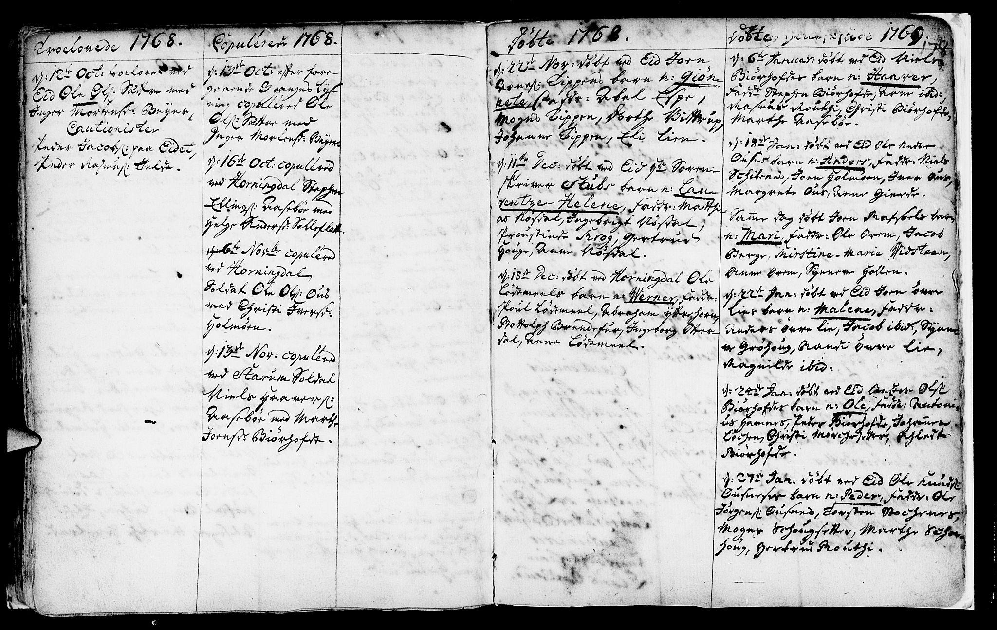 SAB, Eid Sokneprestembete, H/Haa: Ministerialbok nr. A 2, 1741-1769, s. 178