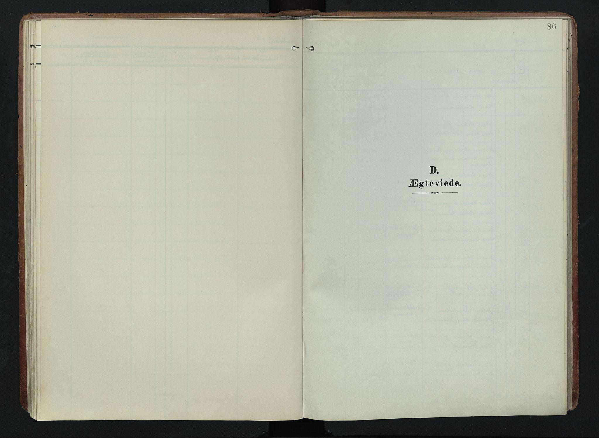 SAH, Søndre Land prestekontor, K/L0005: Ministerialbok nr. 5, 1905-1914, s. 86