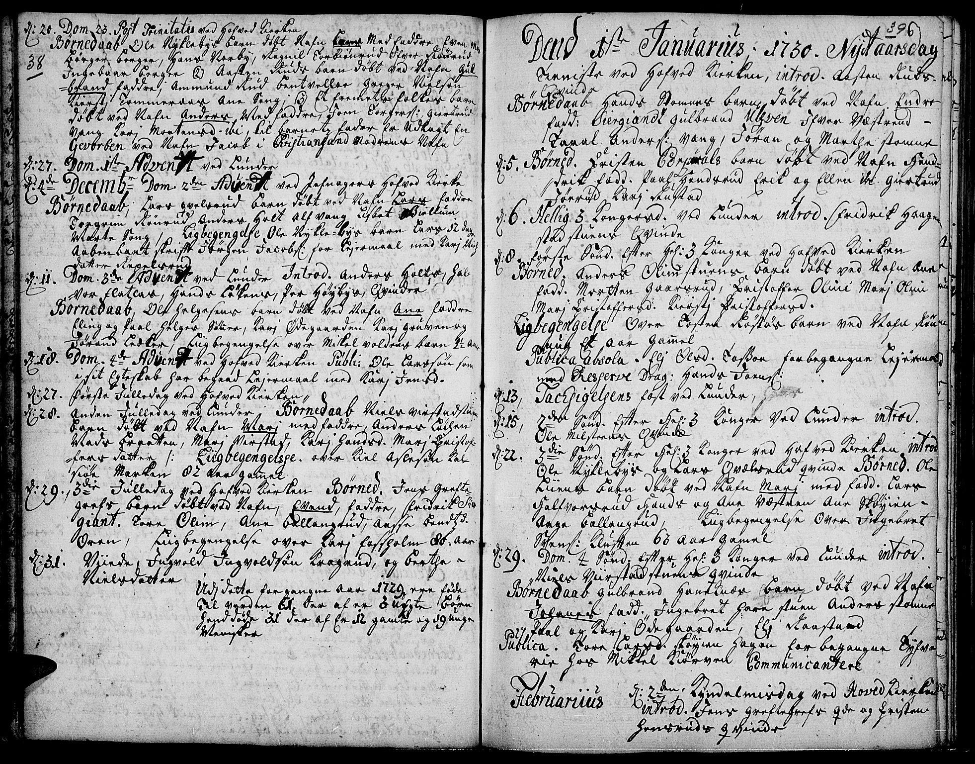 SAH, Jevnaker prestekontor, Ministerialbok nr. 2, 1725-1751, s. 38-39