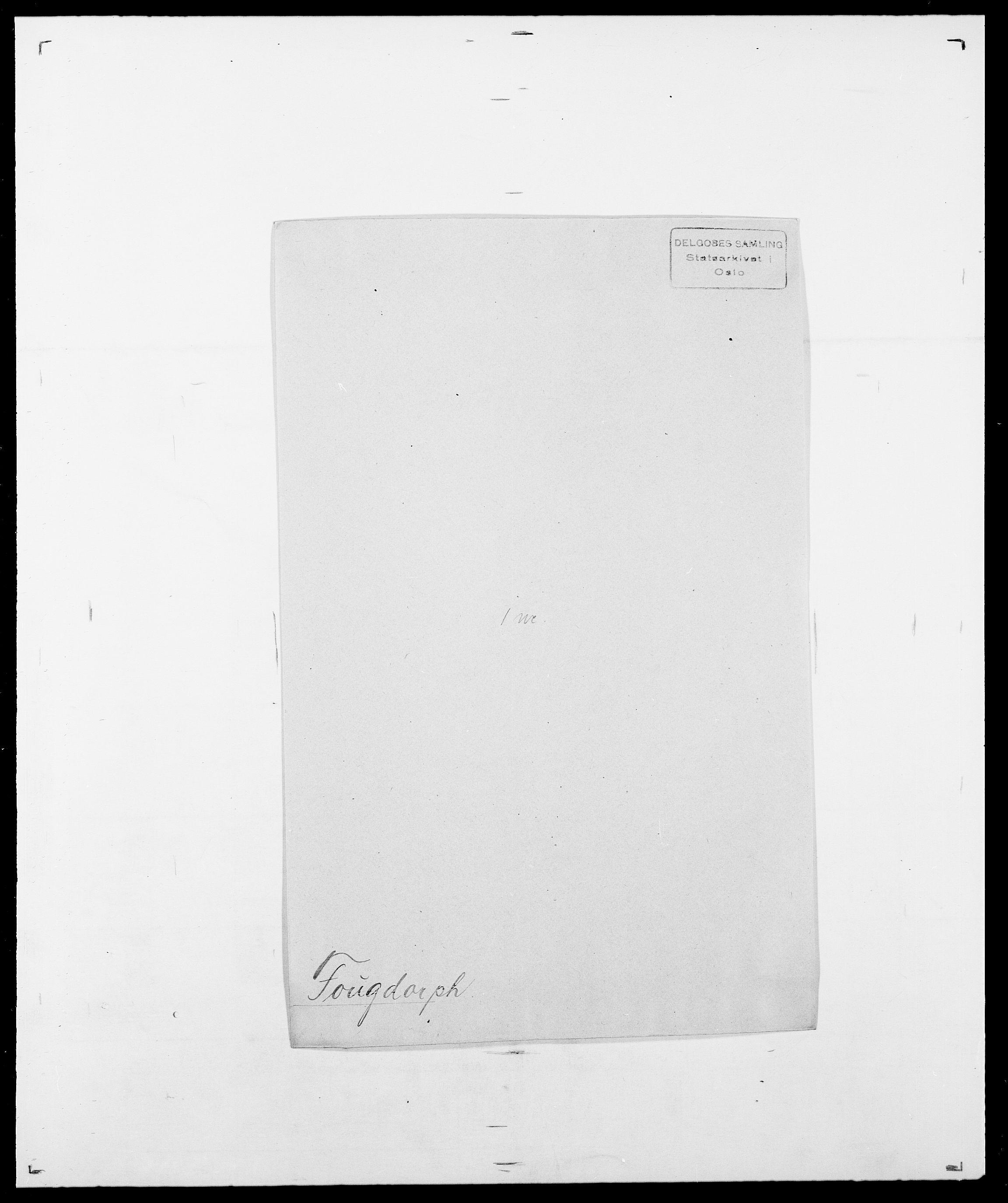 SAO, Delgobe, Charles Antoine - samling, D/Da/L0012: Flor, Floer, Flohr - Fritzner, s. 672