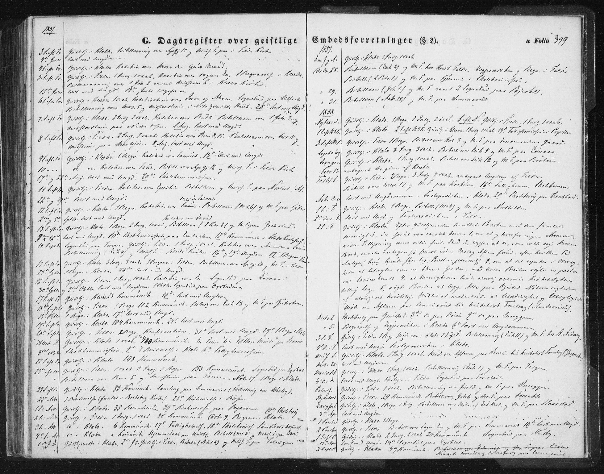 SAT, Ministerialprotokoller, klokkerbøker og fødselsregistre - Sør-Trøndelag, 618/L0441: Ministerialbok nr. 618A05, 1843-1862, s. 399
