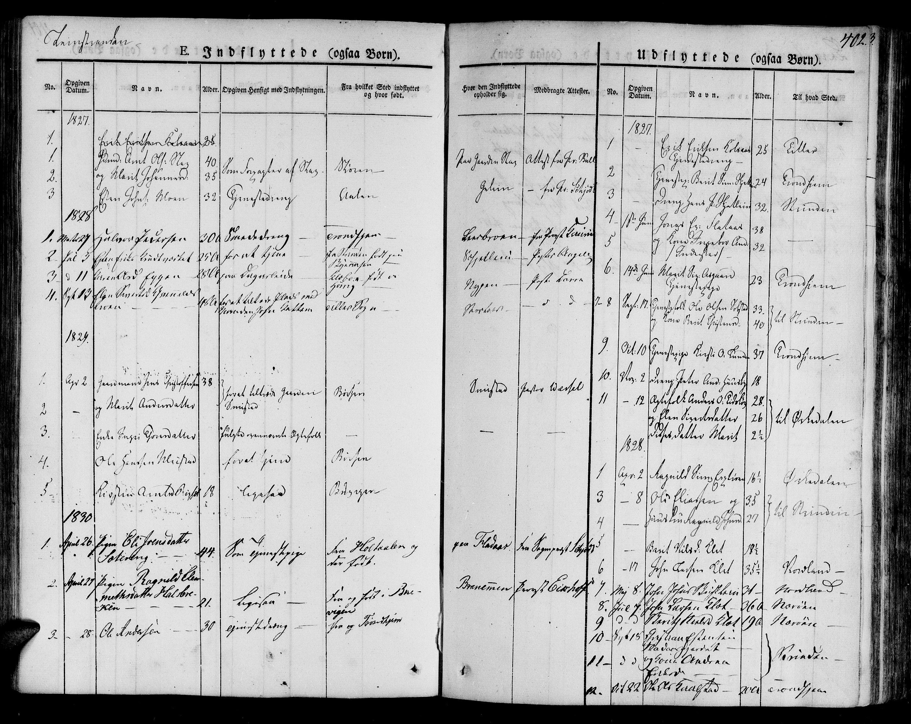 SAT, Ministerialprotokoller, klokkerbøker og fødselsregistre - Sør-Trøndelag, 691/L1071: Ministerialbok nr. 691A05 /2, 1826-1841, s. 402