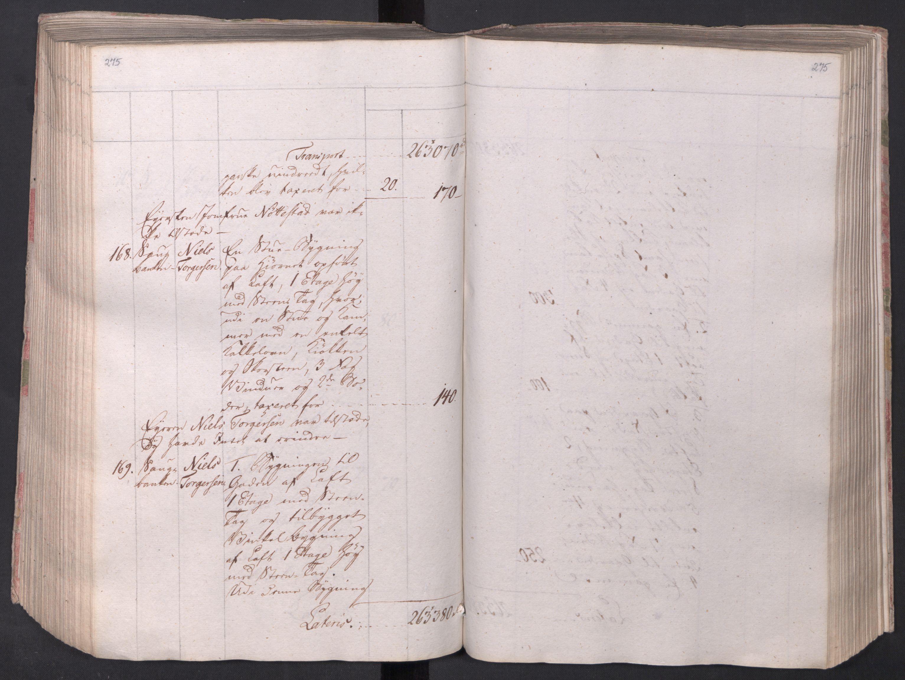 SAO, Kristiania stiftamt, I/Ia/L0015: Branntakster, 1797, s. 275