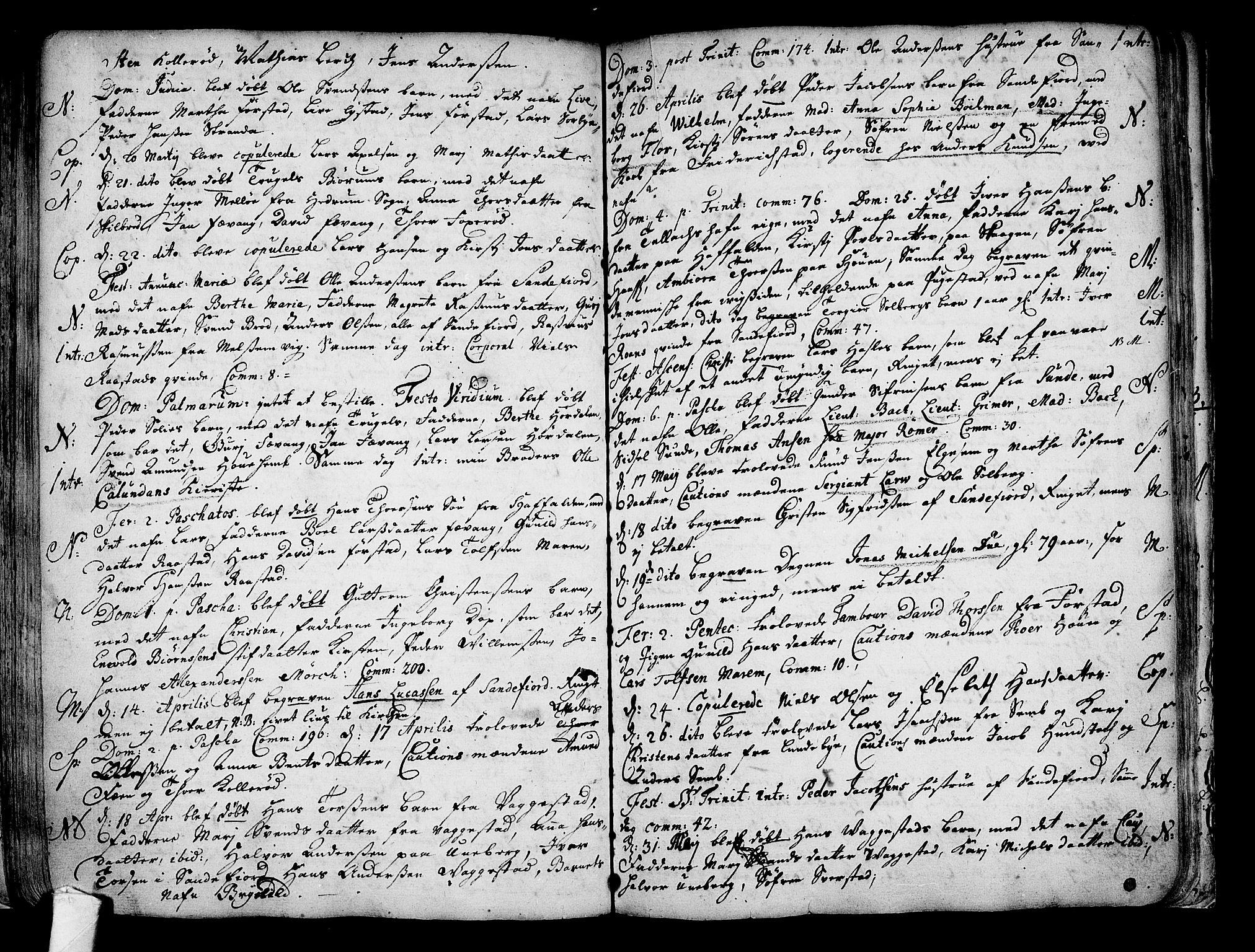SAKO, Sandar kirkebøker, F/Fa/L0001: Ministerialbok nr. 1, 1709-1733