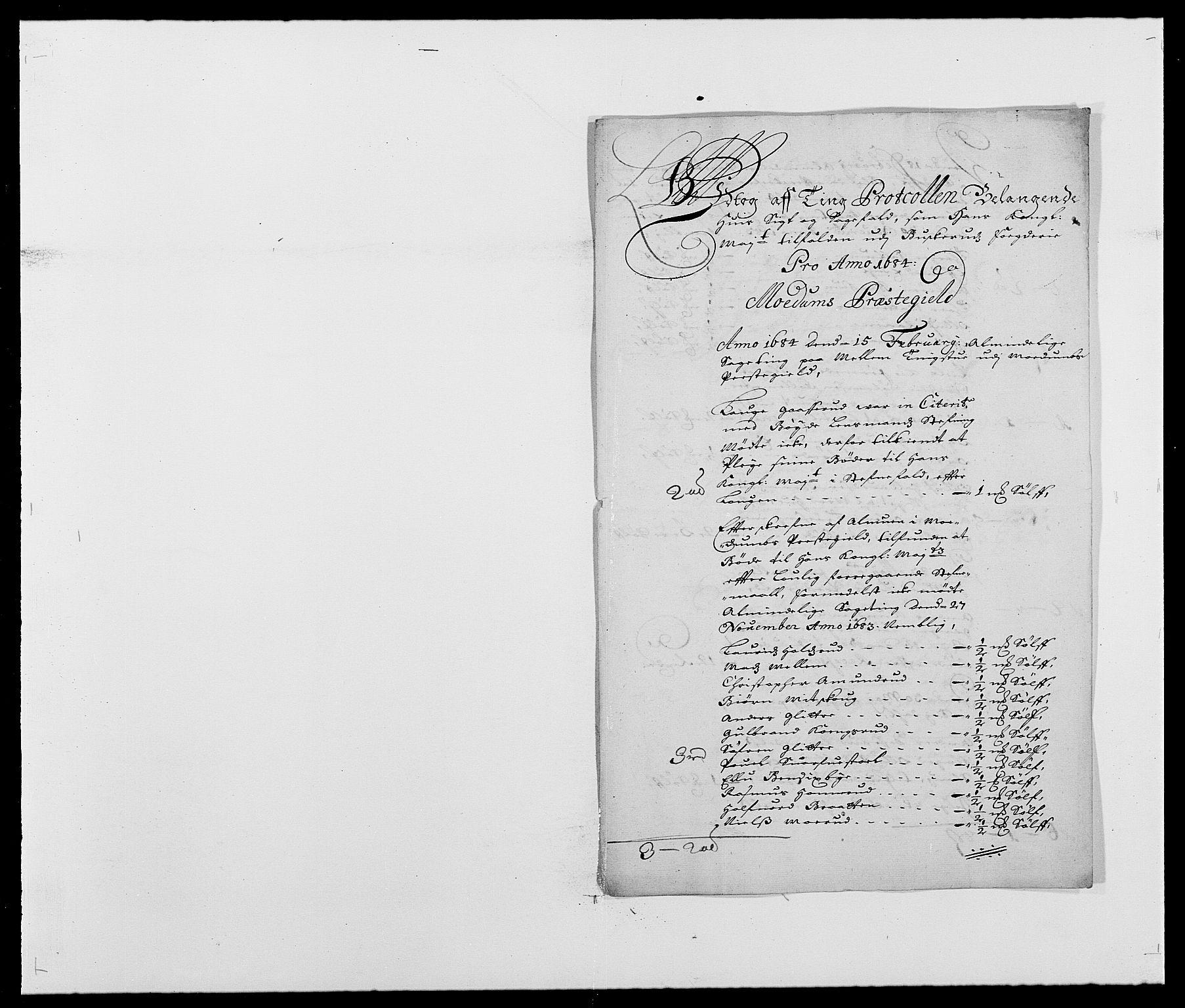 RA, Rentekammeret inntil 1814, Reviderte regnskaper, Fogderegnskap, R25/L1677: Fogderegnskap Buskerud, 1683-1684, s. 206