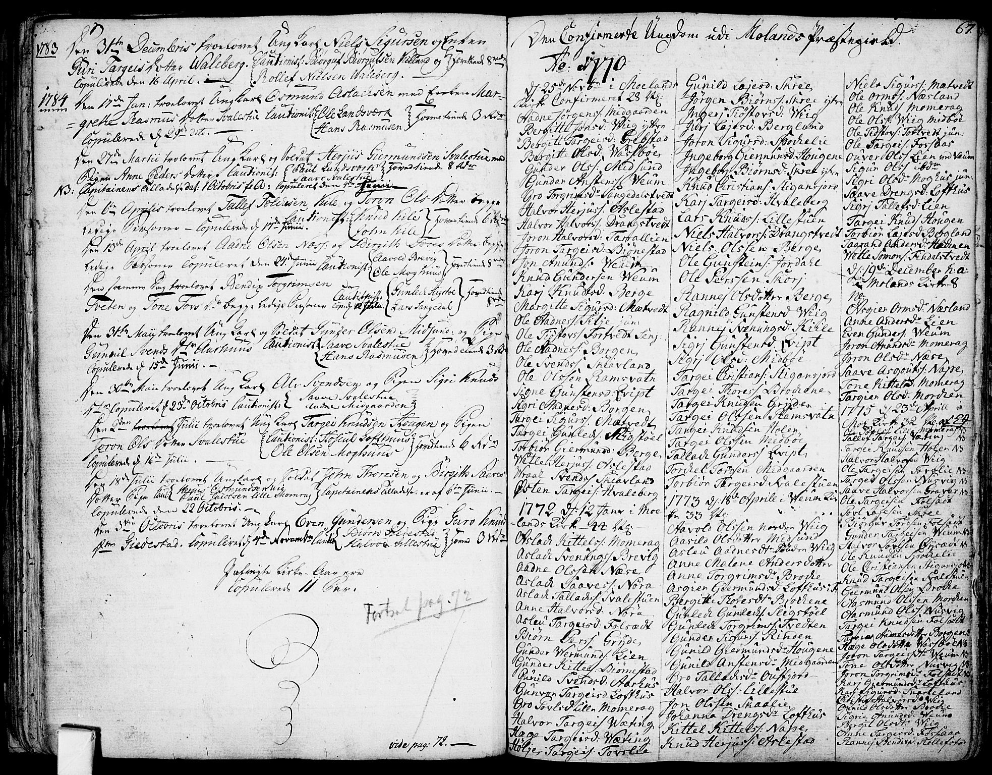 SAKO, Fyresdal kirkebøker, F/Fa/L0002: Ministerialbok nr. I 2, 1769-1814, s. 67