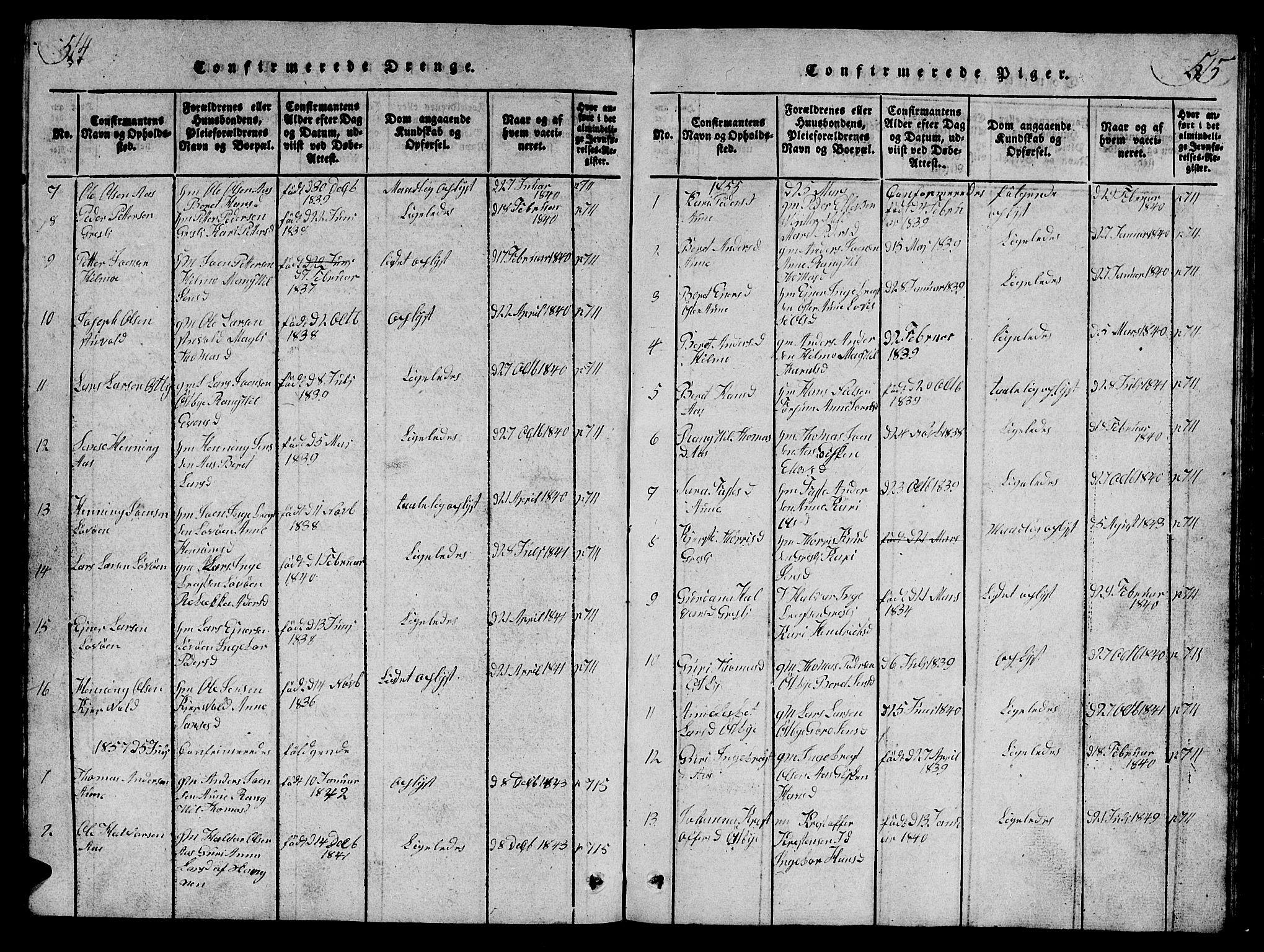 SAT, Ministerialprotokoller, klokkerbøker og fødselsregistre - Sør-Trøndelag, 698/L1164: Klokkerbok nr. 698C01, 1816-1861, s. 514-515