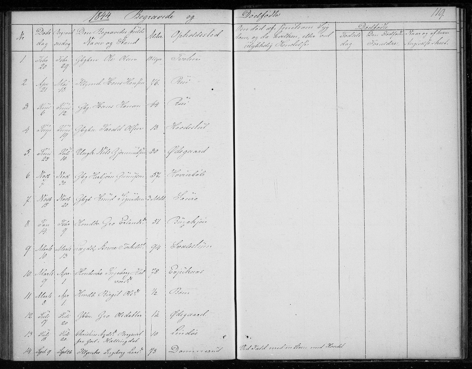 SAKO, Gransherad kirkebøker, F/Fb/L0003: Ministerialbok nr. II 3, 1844-1859, s. 119