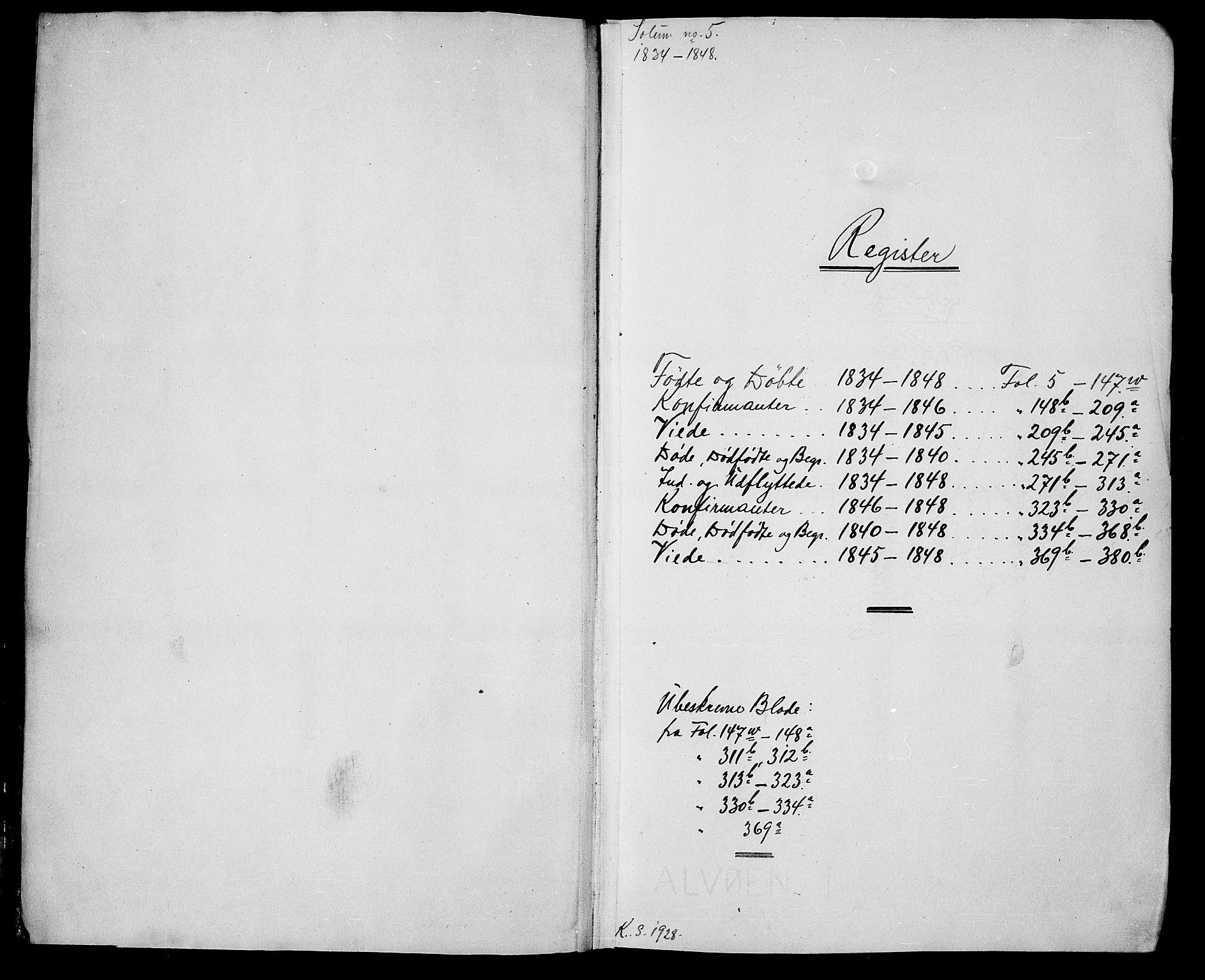 SAKO, Solum kirkebøker, G/Ga/L0002: Klokkerbok nr. I 2, 1834-1848