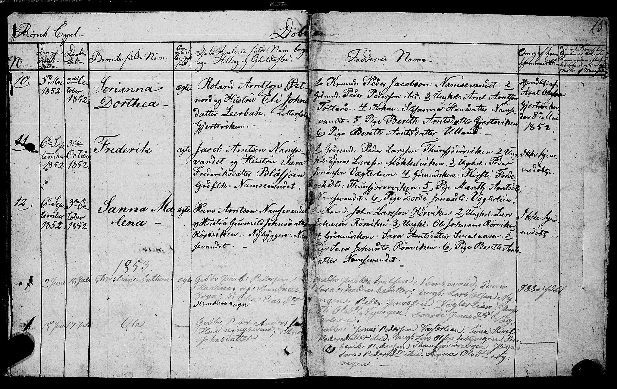 SAT, Ministerialprotokoller, klokkerbøker og fødselsregistre - Nord-Trøndelag, 762/L0538: Ministerialbok nr. 762A02 /1, 1833-1879, s. 15