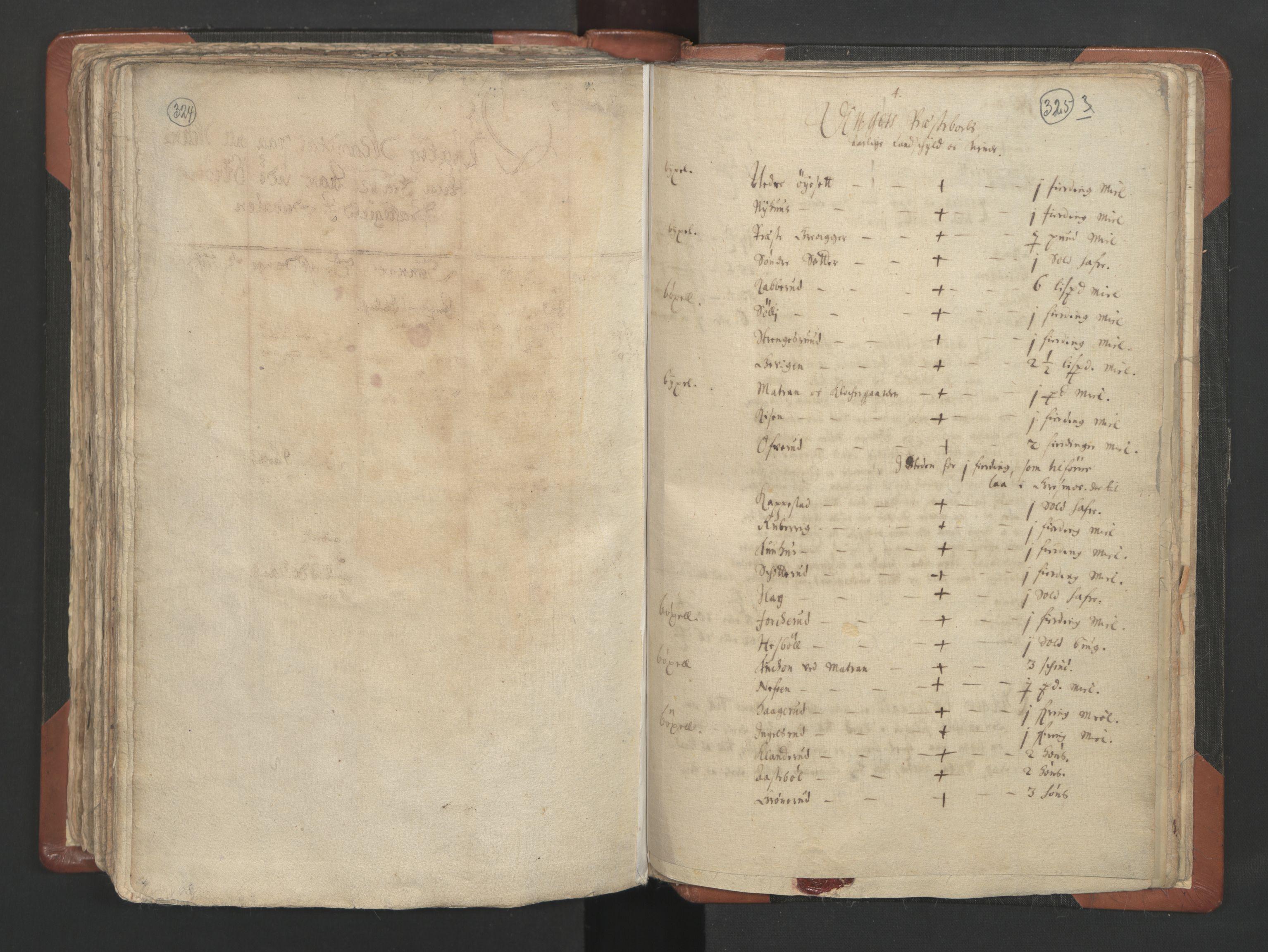 RA, Sogneprestenes manntall 1664-1666, nr. 4: Øvre Romerike prosti, 1664-1666, s. 324-325