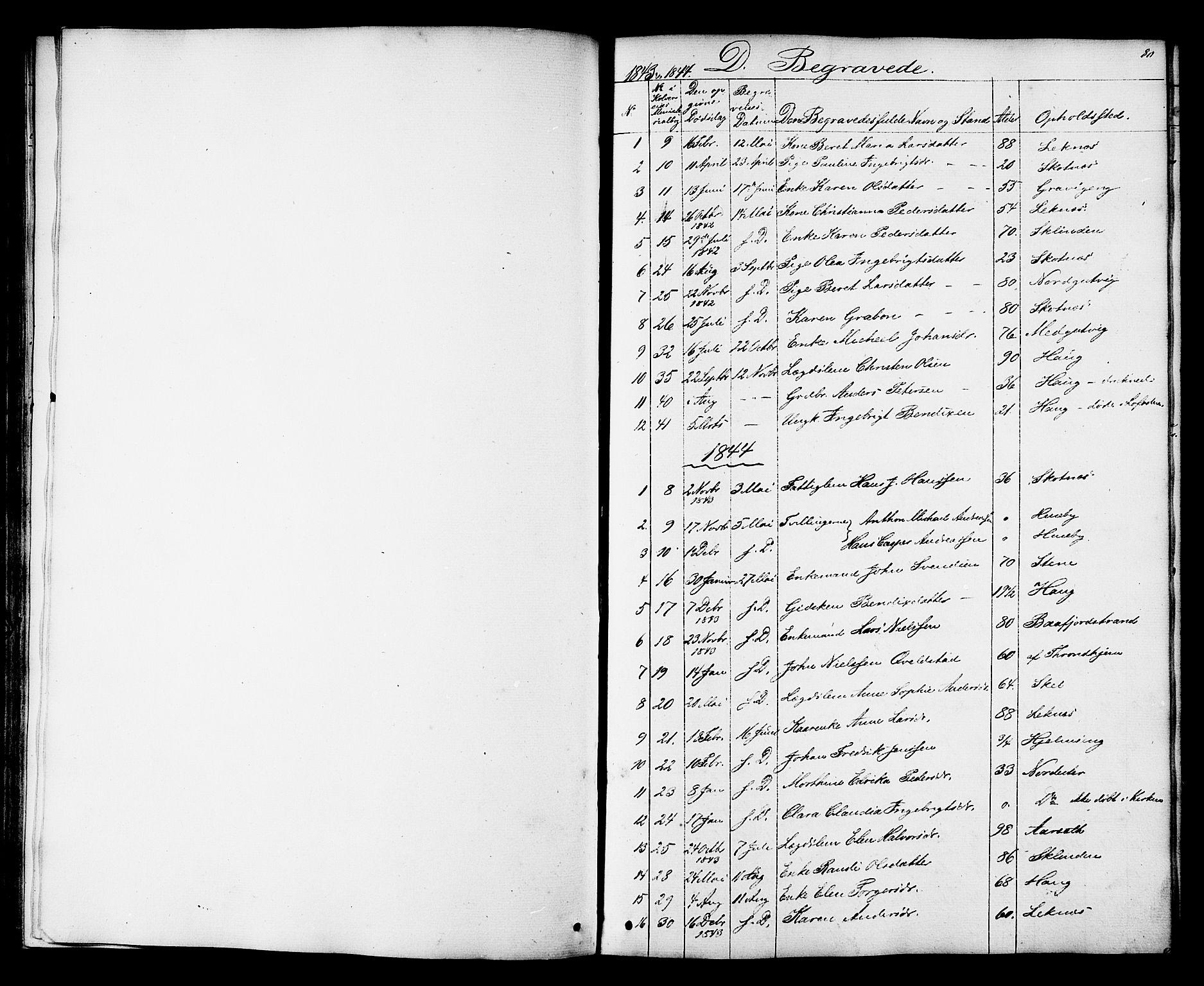 SAT, Ministerialprotokoller, klokkerbøker og fødselsregistre - Nord-Trøndelag, 788/L0695: Ministerialbok nr. 788A02, 1843-1862, s. 80