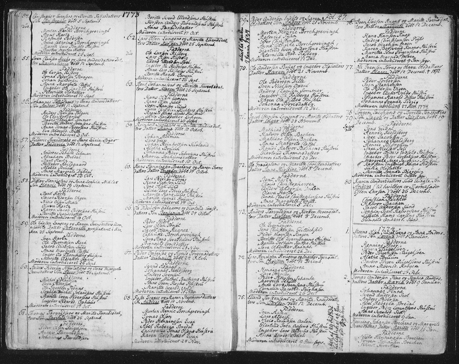 SAT, Ministerialprotokoller, klokkerbøker og fødselsregistre - Sør-Trøndelag, 681/L0926: Ministerialbok nr. 681A04, 1767-1797, s. 47