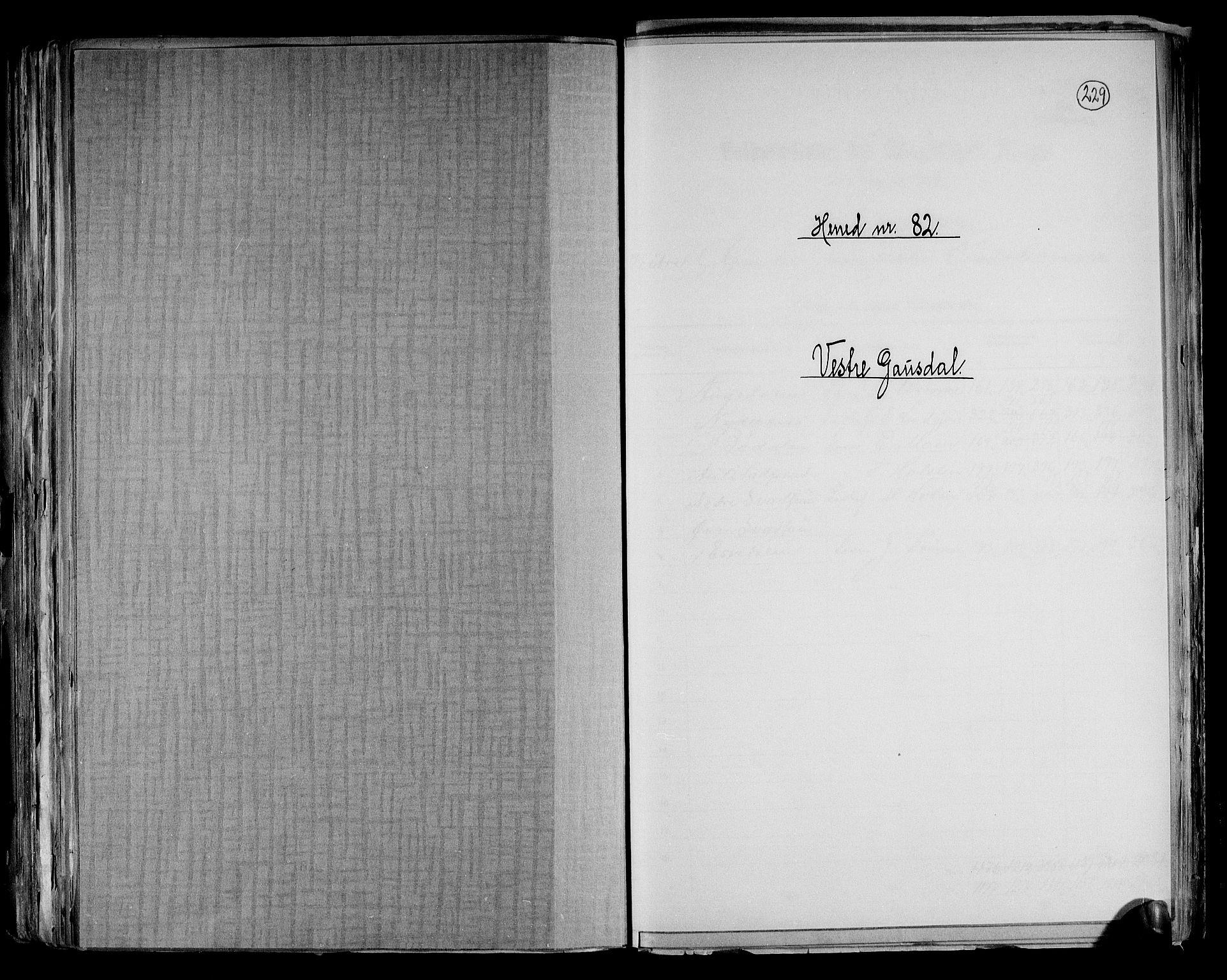 RA, Folketelling 1891 for 0523 Vestre Gausdal herred, 1891, s. 1