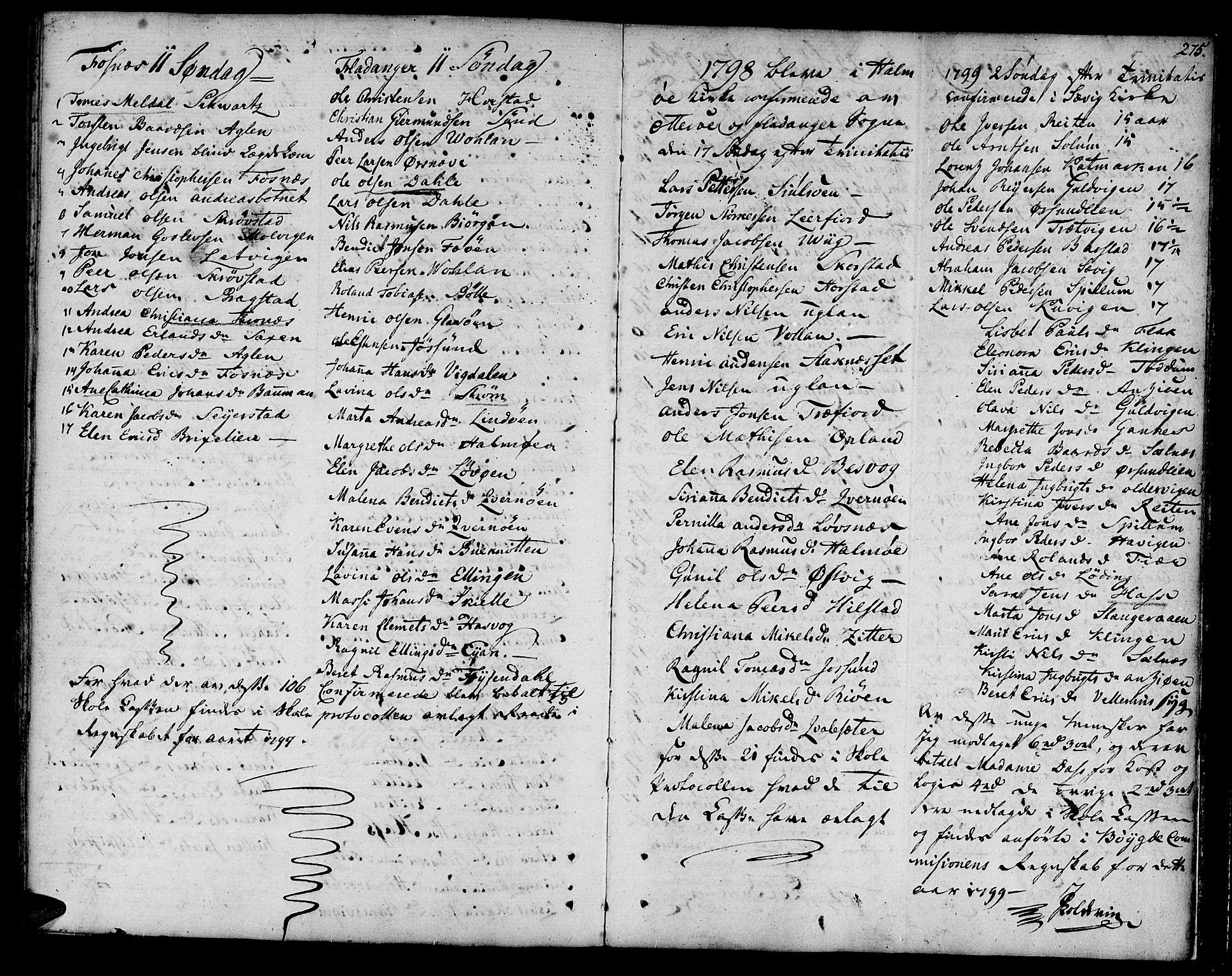 SAT, Ministerialprotokoller, klokkerbøker og fødselsregistre - Nord-Trøndelag, 773/L0608: Ministerialbok nr. 773A02, 1784-1816, s. 275