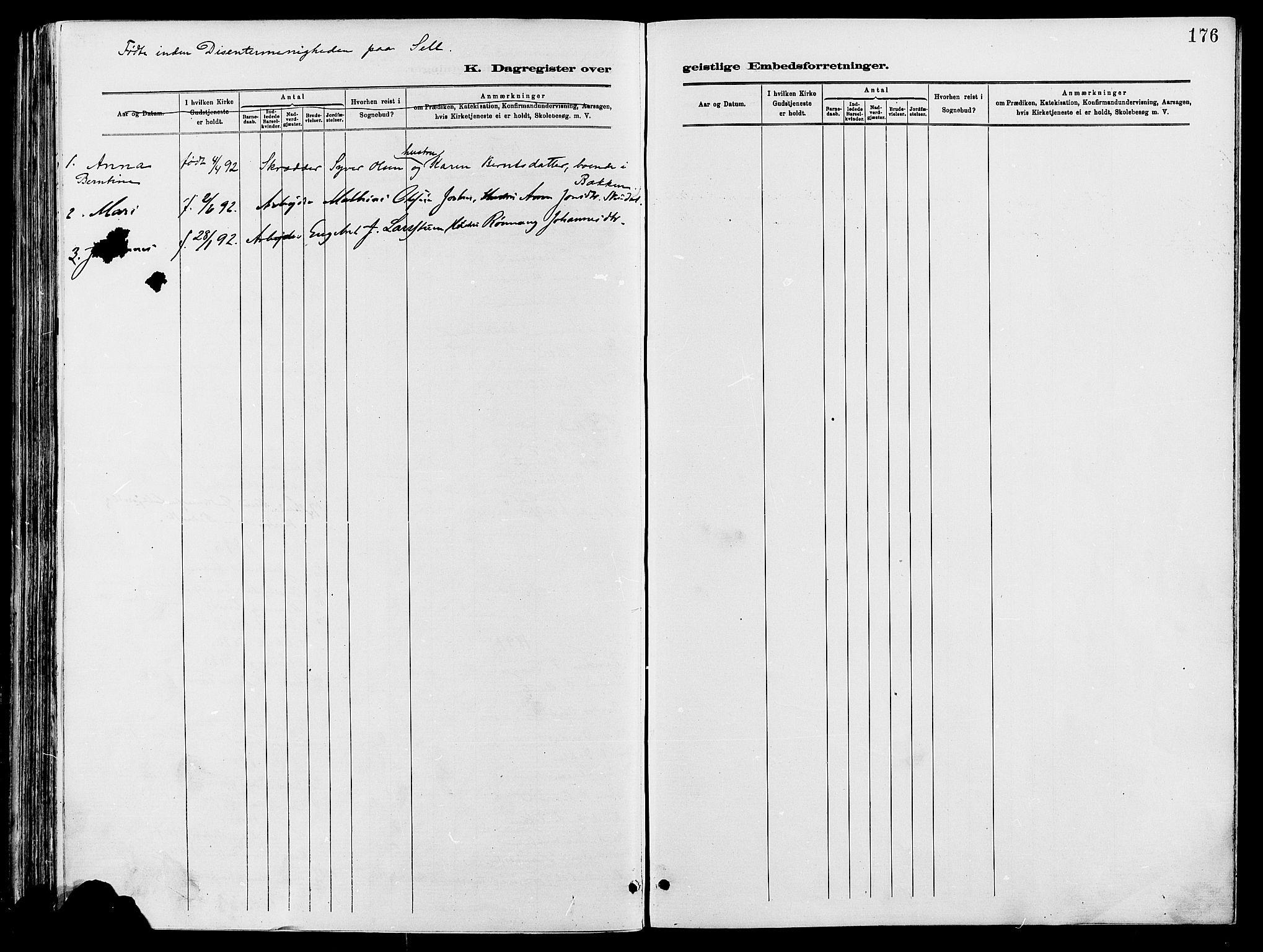 SAH, Vågå prestekontor, Ministerialbok nr. 8, 1886-1904, s. 176