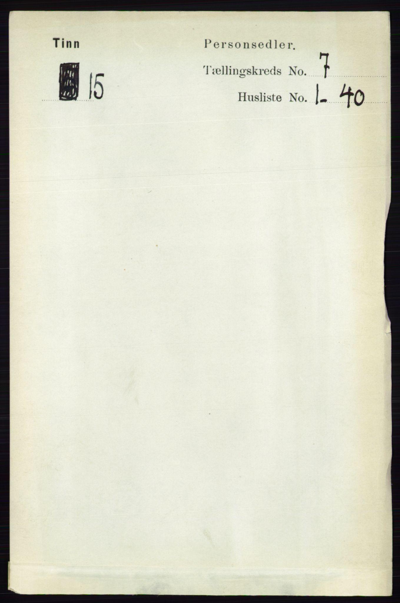 RA, Folketelling 1891 for 0826 Tinn herred, 1891, s. 1438