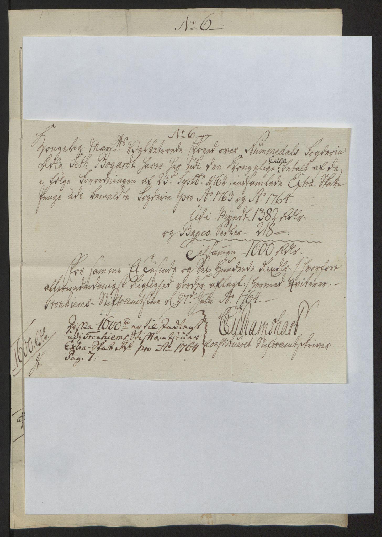 RA, Rentekammeret inntil 1814, Reviderte regnskaper, Fogderegnskap, R64/L4502: Ekstraskatten Namdal, 1762-1772, s. 168