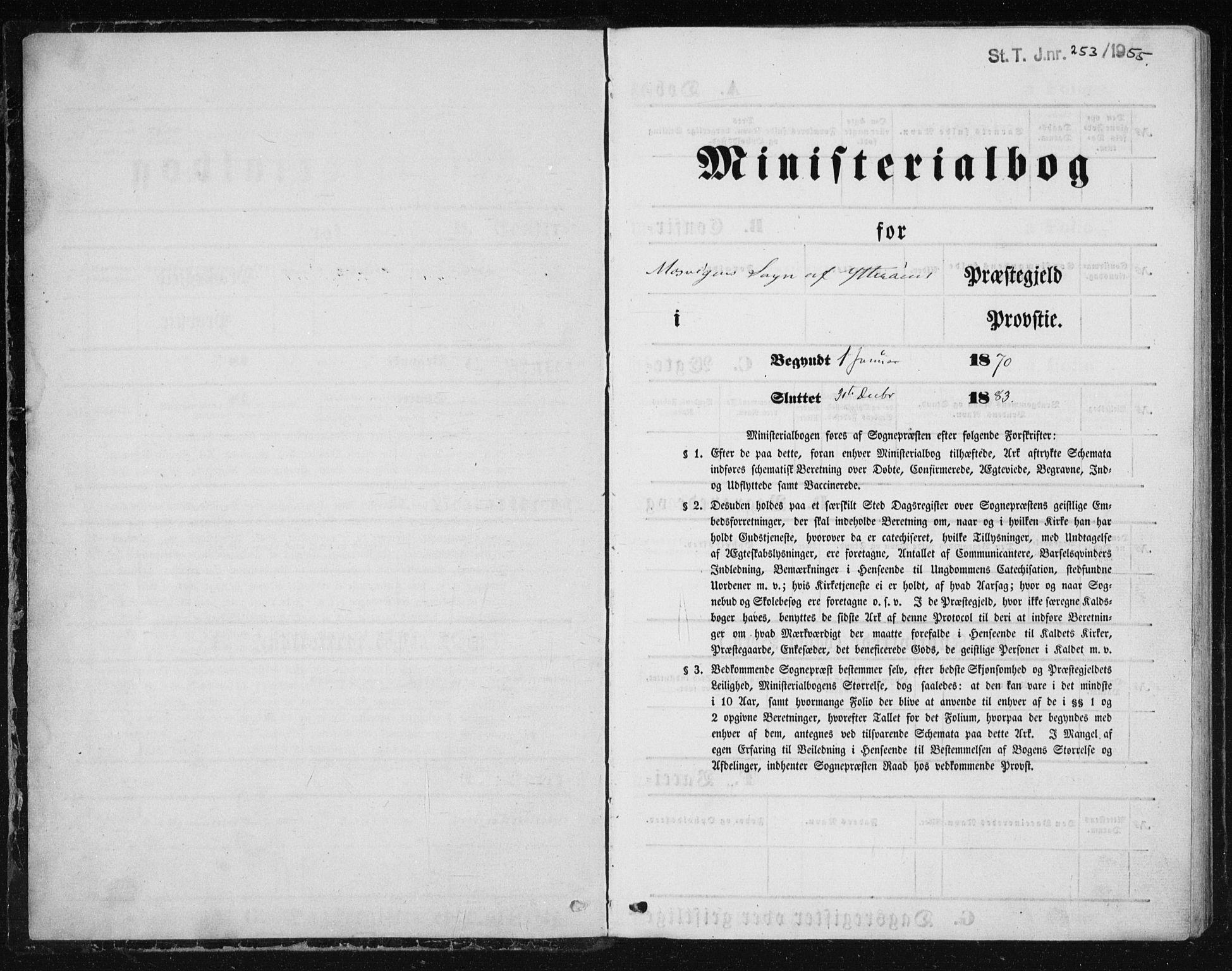 SAT, Ministerialprotokoller, klokkerbøker og fødselsregistre - Nord-Trøndelag, 733/L0324: Ministerialbok nr. 733A03, 1870-1883