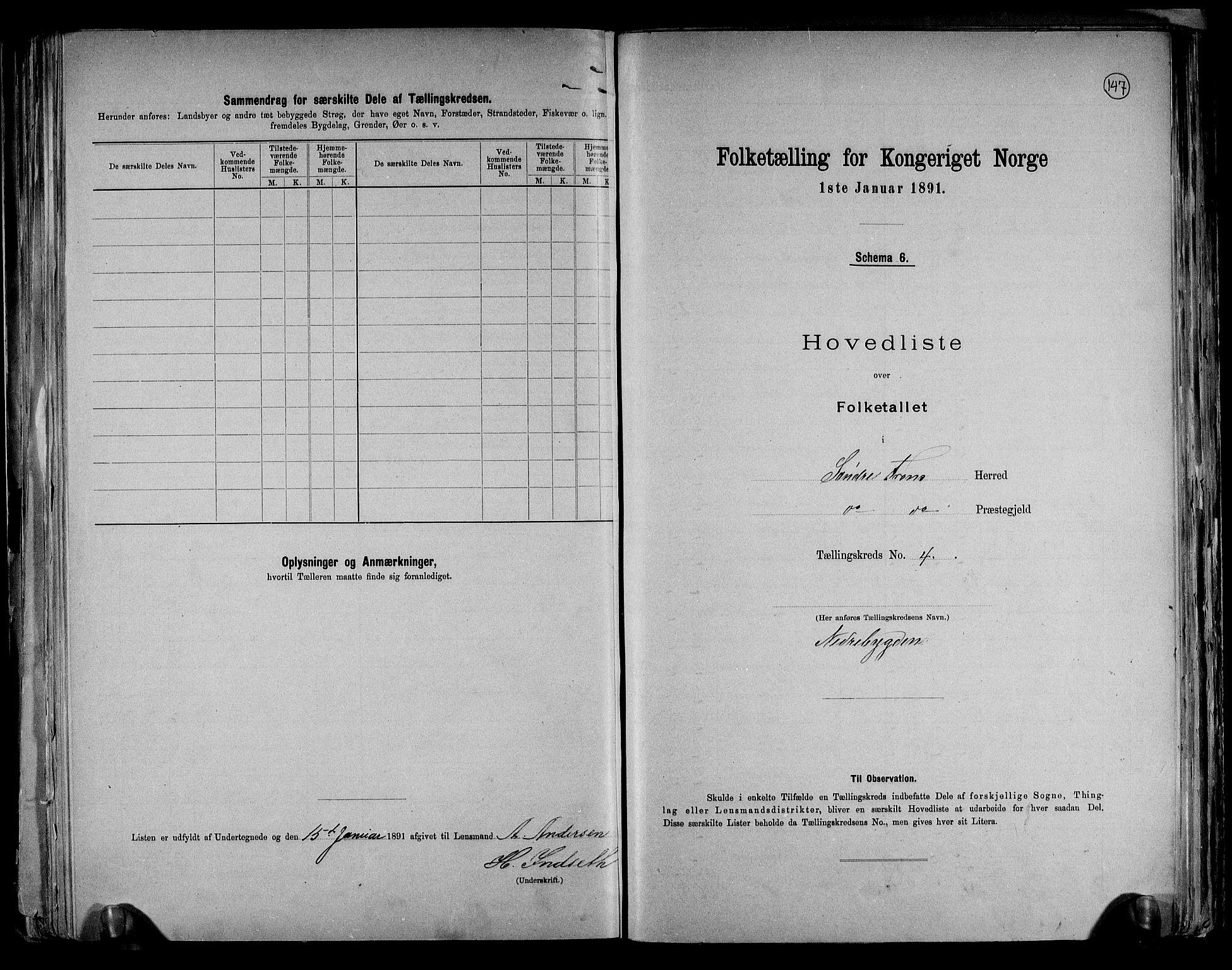 RA, Folketelling 1891 for 0519 Sør-Fron herred, 1891, s. 10