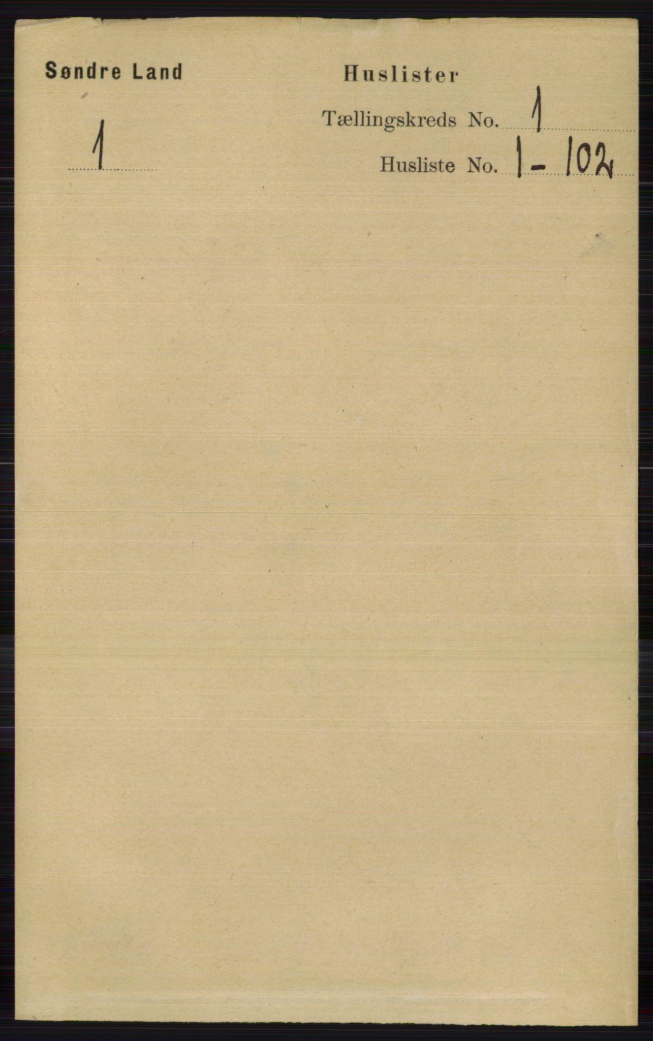 RA, Folketelling 1891 for 0536 Søndre Land herred, 1891, s. 25