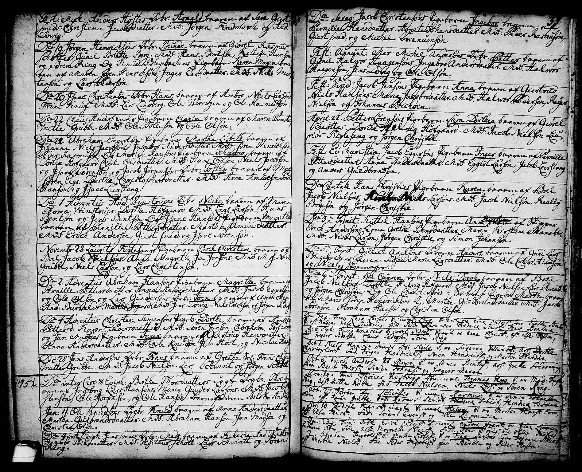 SAKO, Brevik kirkebøker, F/Fa/L0002: Ministerialbok nr. 2, 1720-1764, s. 35a