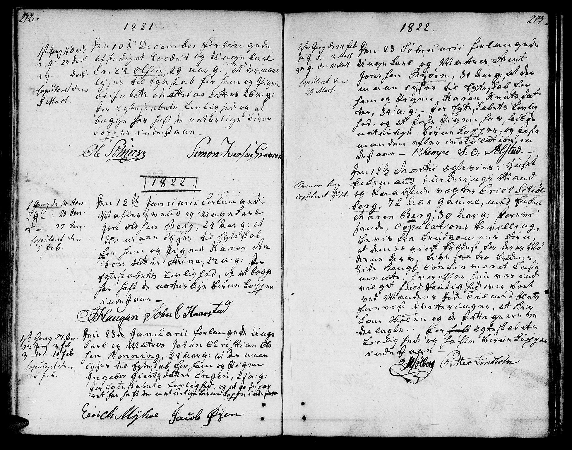 SAT, Ministerialprotokoller, klokkerbøker og fødselsregistre - Sør-Trøndelag, 601/L0042: Ministerialbok nr. 601A10, 1802-1830, s. 272-273