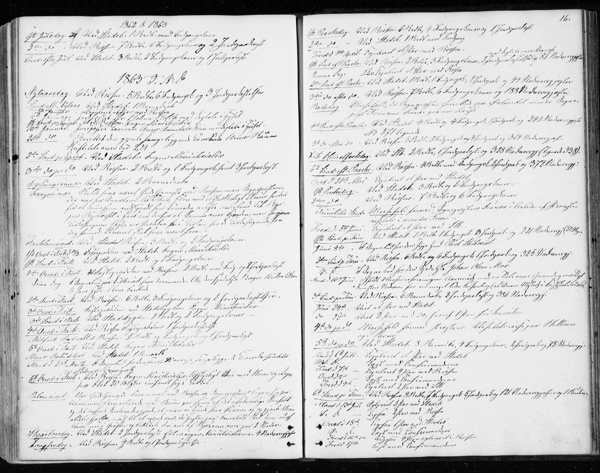SAT, Ministerialprotokoller, klokkerbøker og fødselsregistre - Sør-Trøndelag, 646/L0612: Ministerialbok nr. 646A10, 1858-1869, s. 16