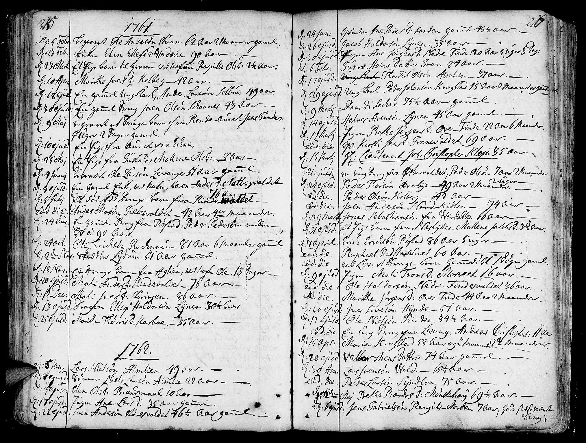 SAT, Ministerialprotokoller, klokkerbøker og fødselsregistre - Nord-Trøndelag, 717/L0141: Ministerialbok nr. 717A01, 1747-1803, s. 215-216