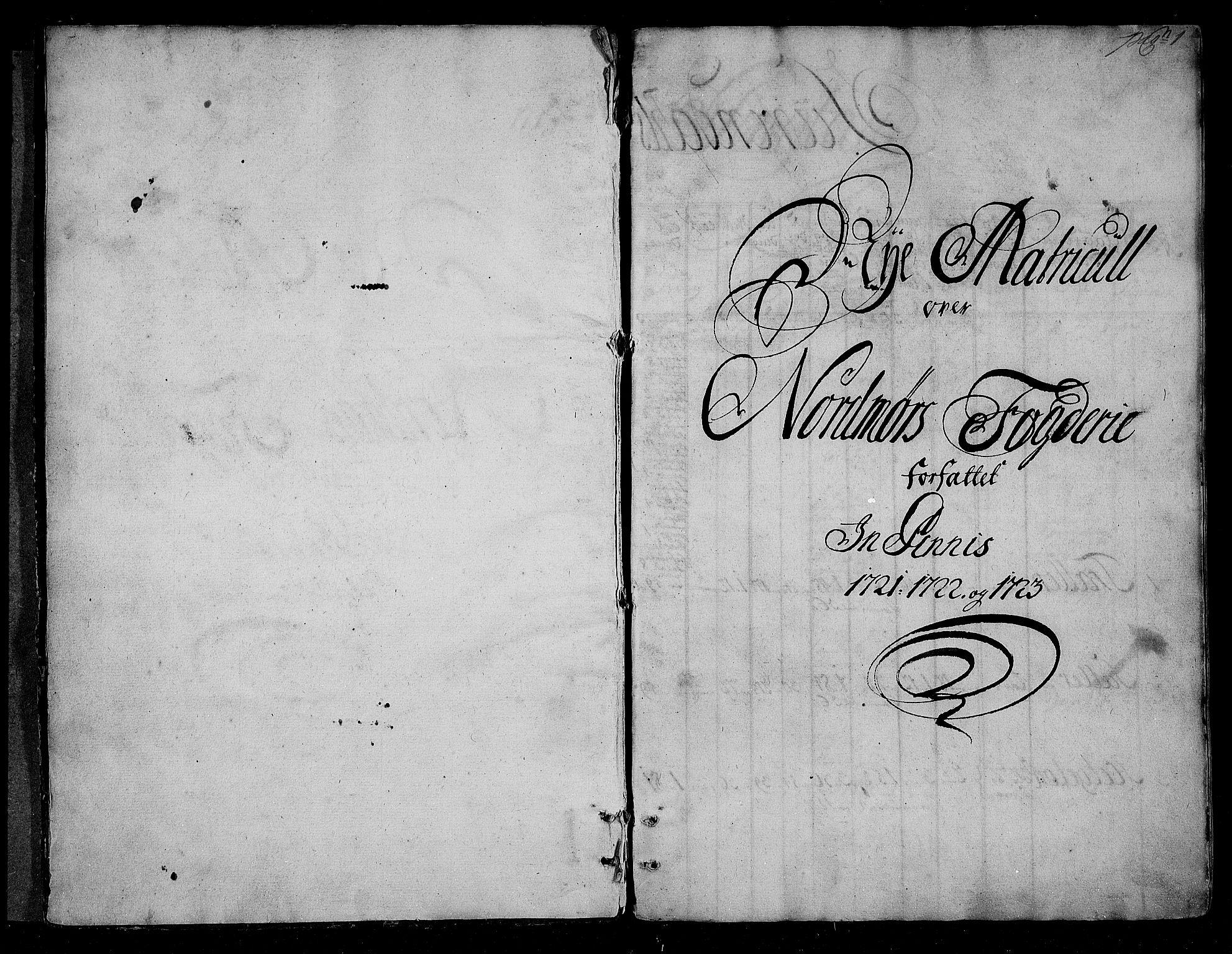 RA, Rentekammeret inntil 1814, Realistisk ordnet avdeling, N/Nb/Nbf/L0155: Nordmøre matrikkelprotokoll, 1721-1723, s. 1