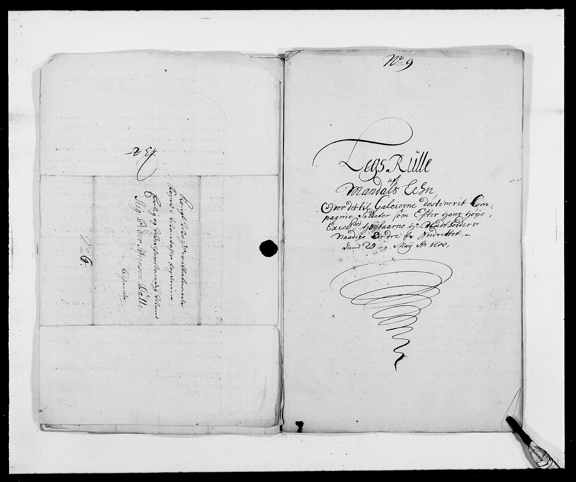 RA, Rentekammeret inntil 1814, Reviderte regnskaper, Fogderegnskap, R42/L2543: Mandal fogderi, 1688-1691, s. 273