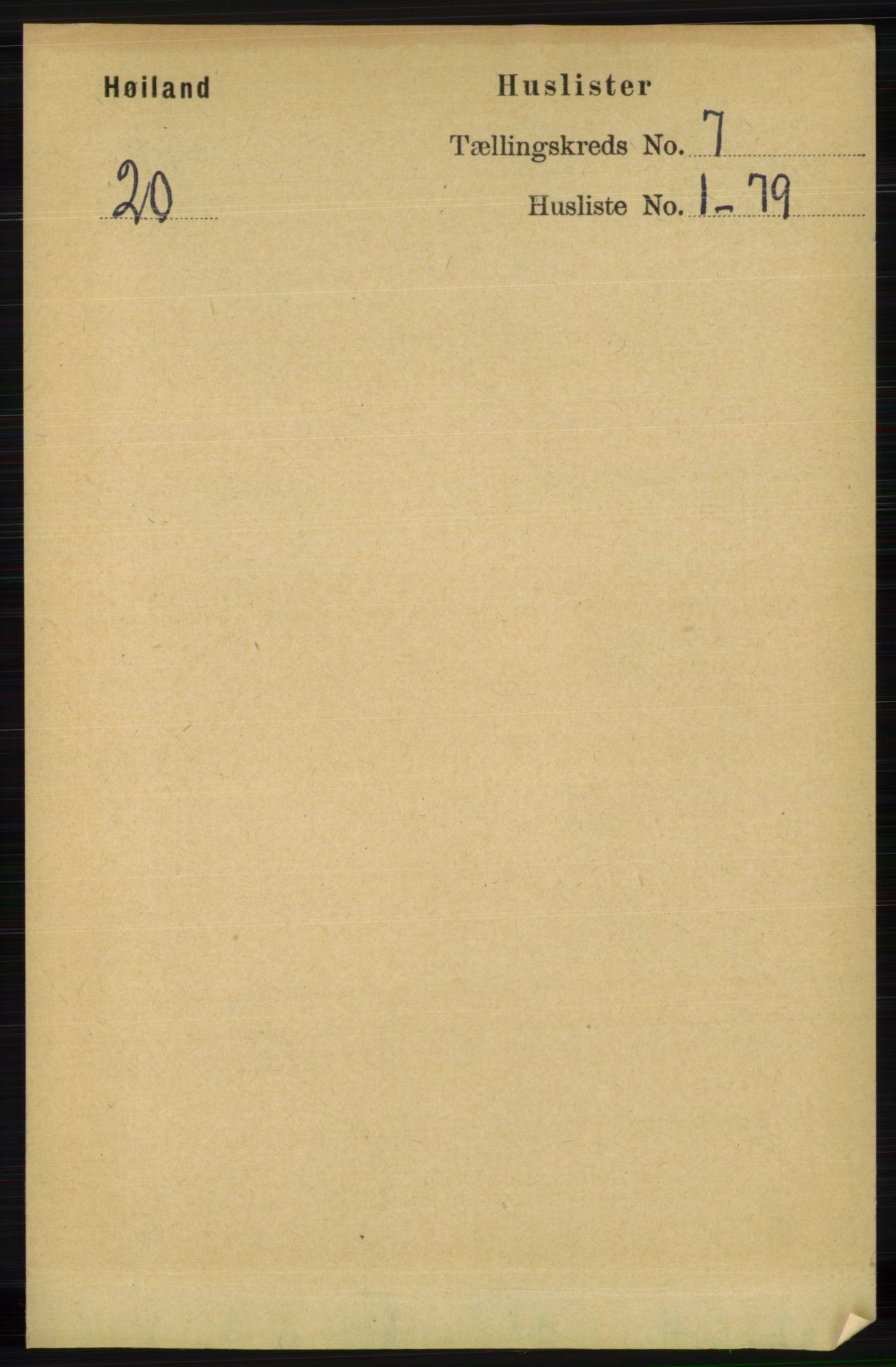 RA, Folketelling 1891 for 1123 Høyland herred, 1891, s. 2311