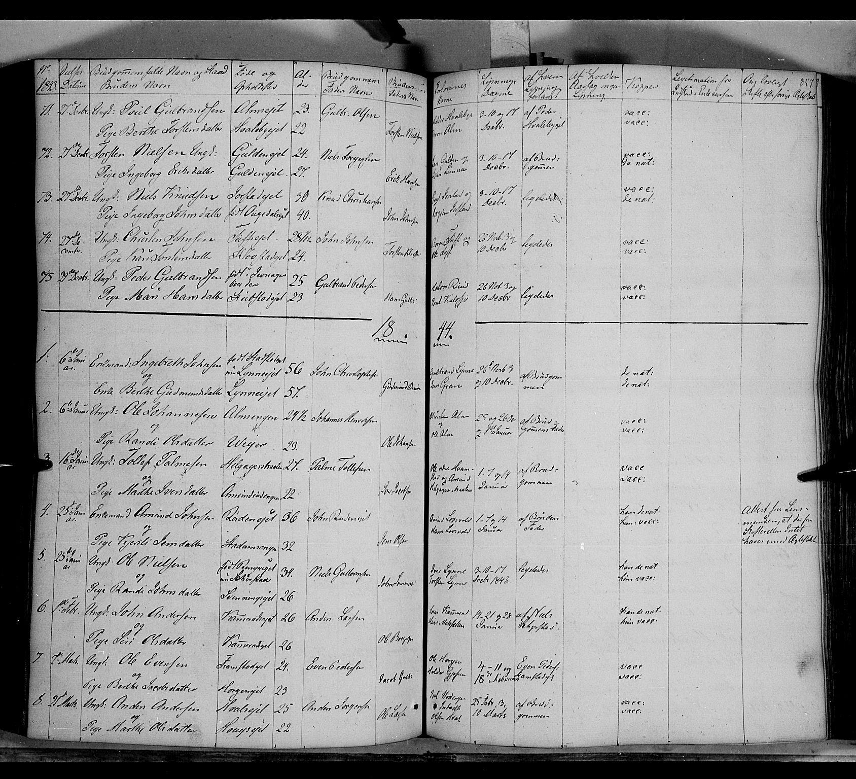 SAH, Gran prestekontor, Ministerialbok nr. 11, 1842-1856, s. 856-857