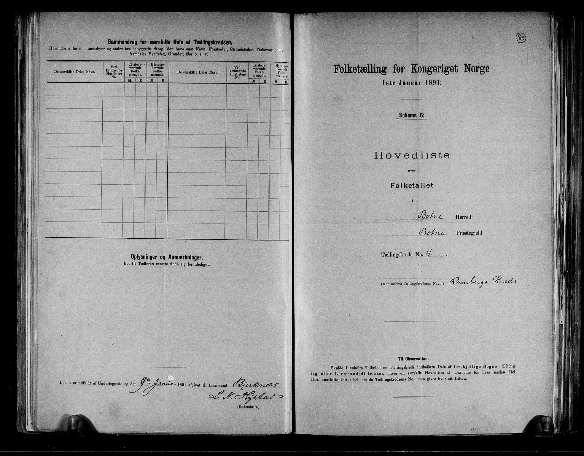 RA, Folketelling 1891 for 0715 Botne herred, 1891, s. 11