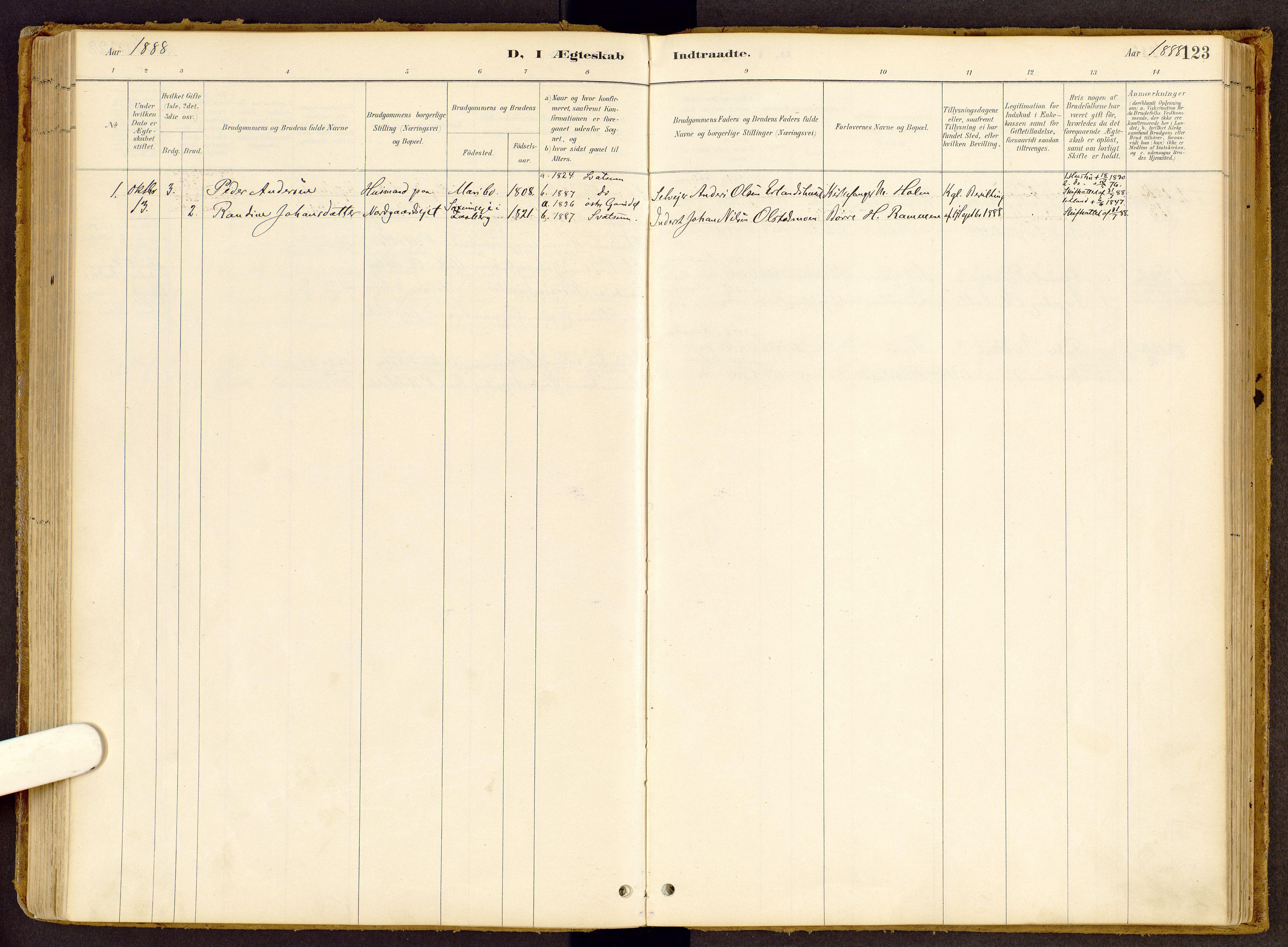 SAH, Vestre Gausdal prestekontor, Ministerialbok nr. 2, 1887-1918, s. 123