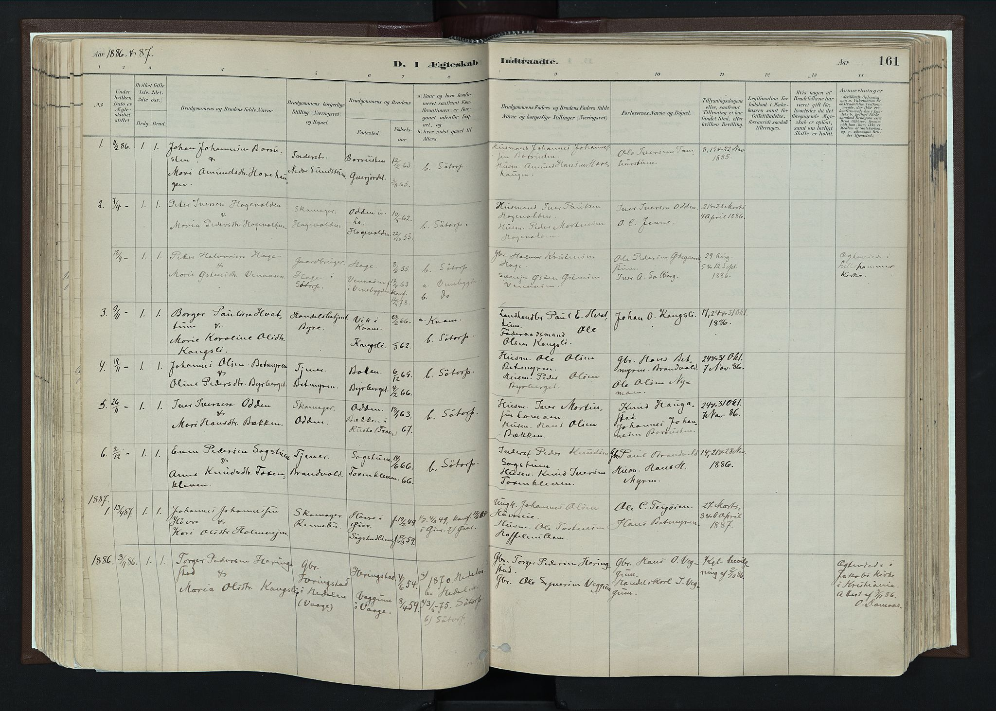 SAH, Nord-Fron prestekontor, Ministerialbok nr. 4, 1884-1914, s. 161