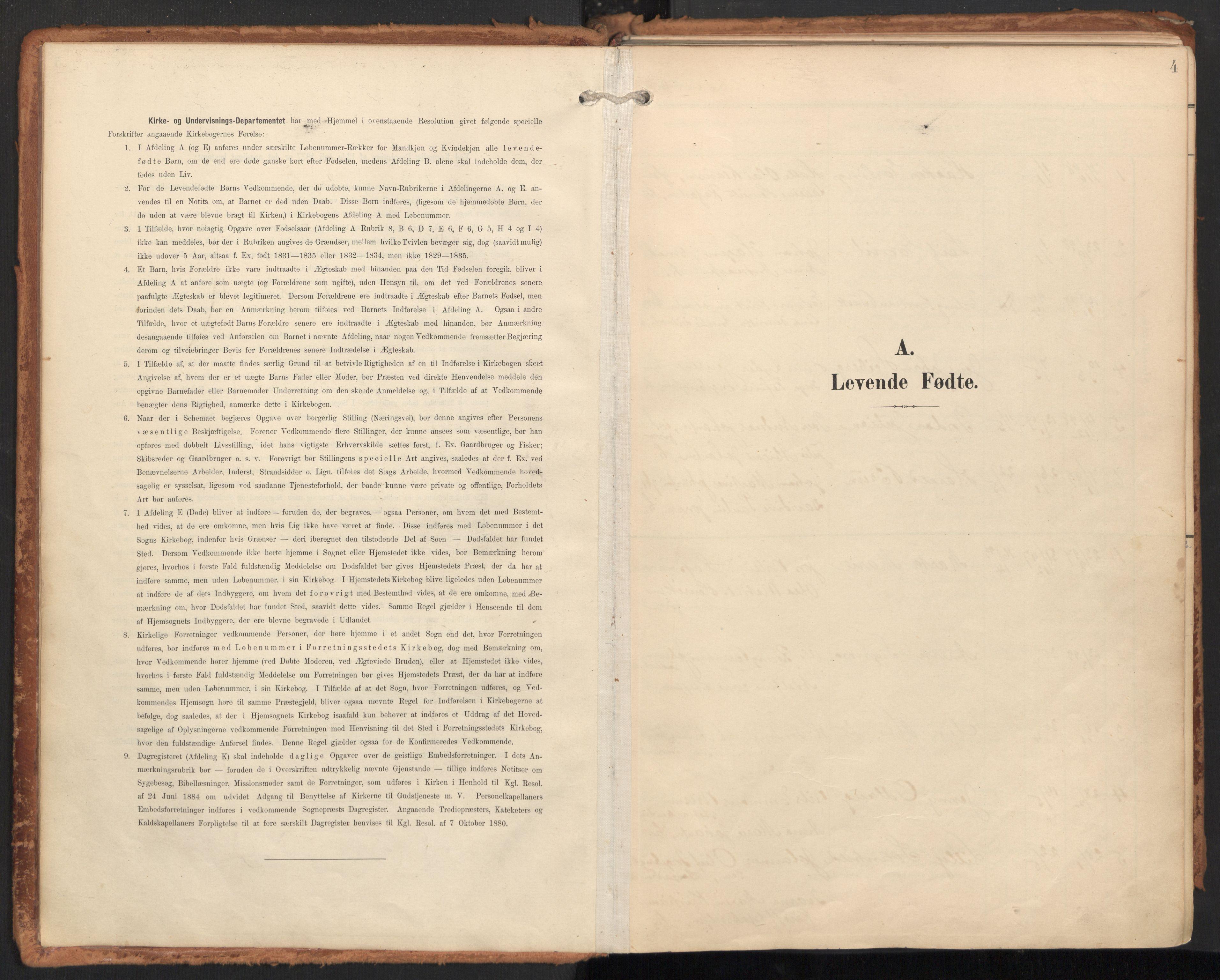 SAT, Ministerialprotokoller, klokkerbøker og fødselsregistre - Nordland, 814/L0227: Ministerialbok nr. 814A08, 1899-1920, s. 4