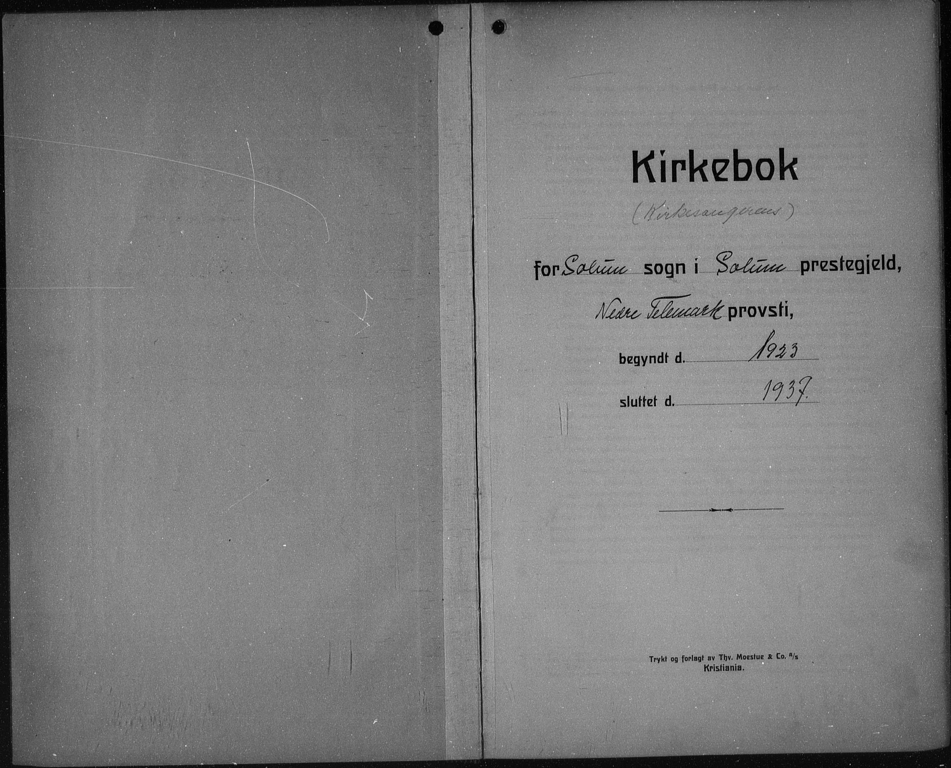 SAKO, Solum kirkebøker, G/Ga/L0010: Klokkerbok nr. I 10, 1921-1937