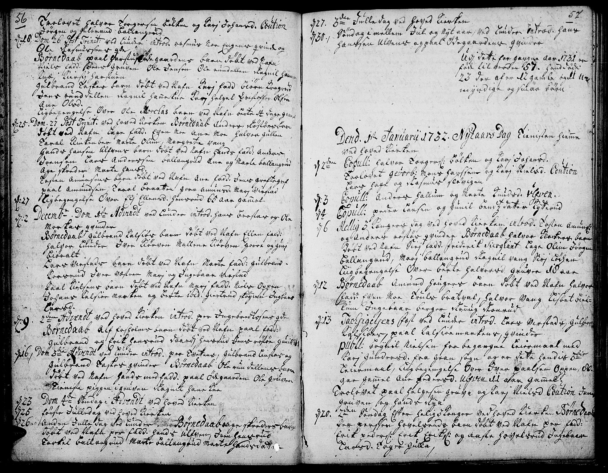 SAH, Jevnaker prestekontor, Ministerialbok nr. 2, 1725-1751, s. 56-57